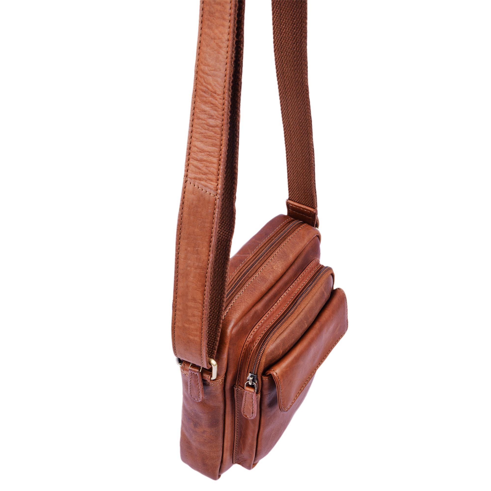 """STILORD """"Jannis"""" Leder Umhängetasche Männer klein Vintage Messenger Bag Herren-Tasche Tablettasche für 9.7 Zoll iPad Schultertasche aus echtem Leder - Bild 6"""