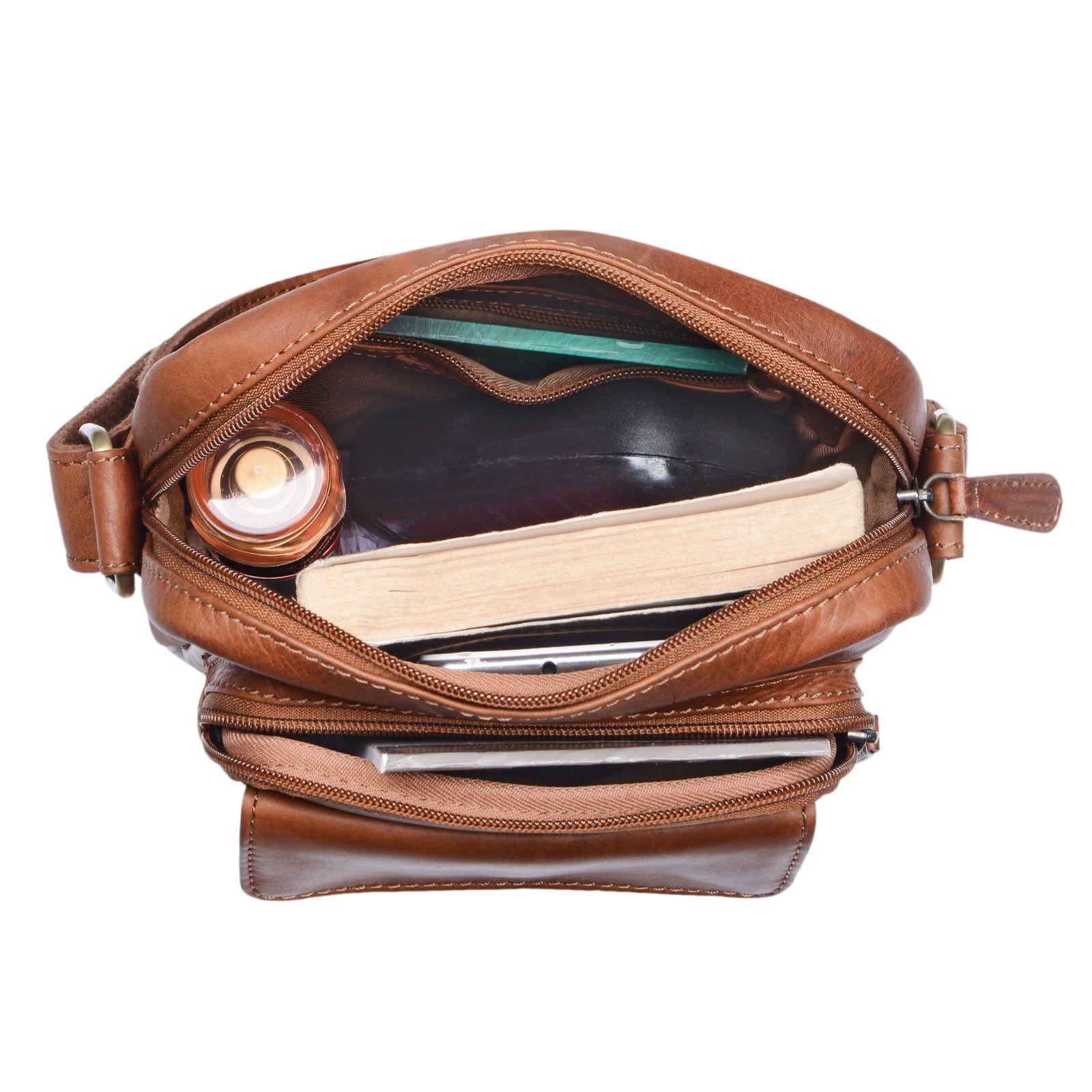 """STILORD """"Jannis"""" Leder Umhängetasche Männer klein Vintage Messenger Bag Herren-Tasche Tablettasche für 9.7 Zoll iPad Schultertasche aus echtem Leder - Bild 5"""