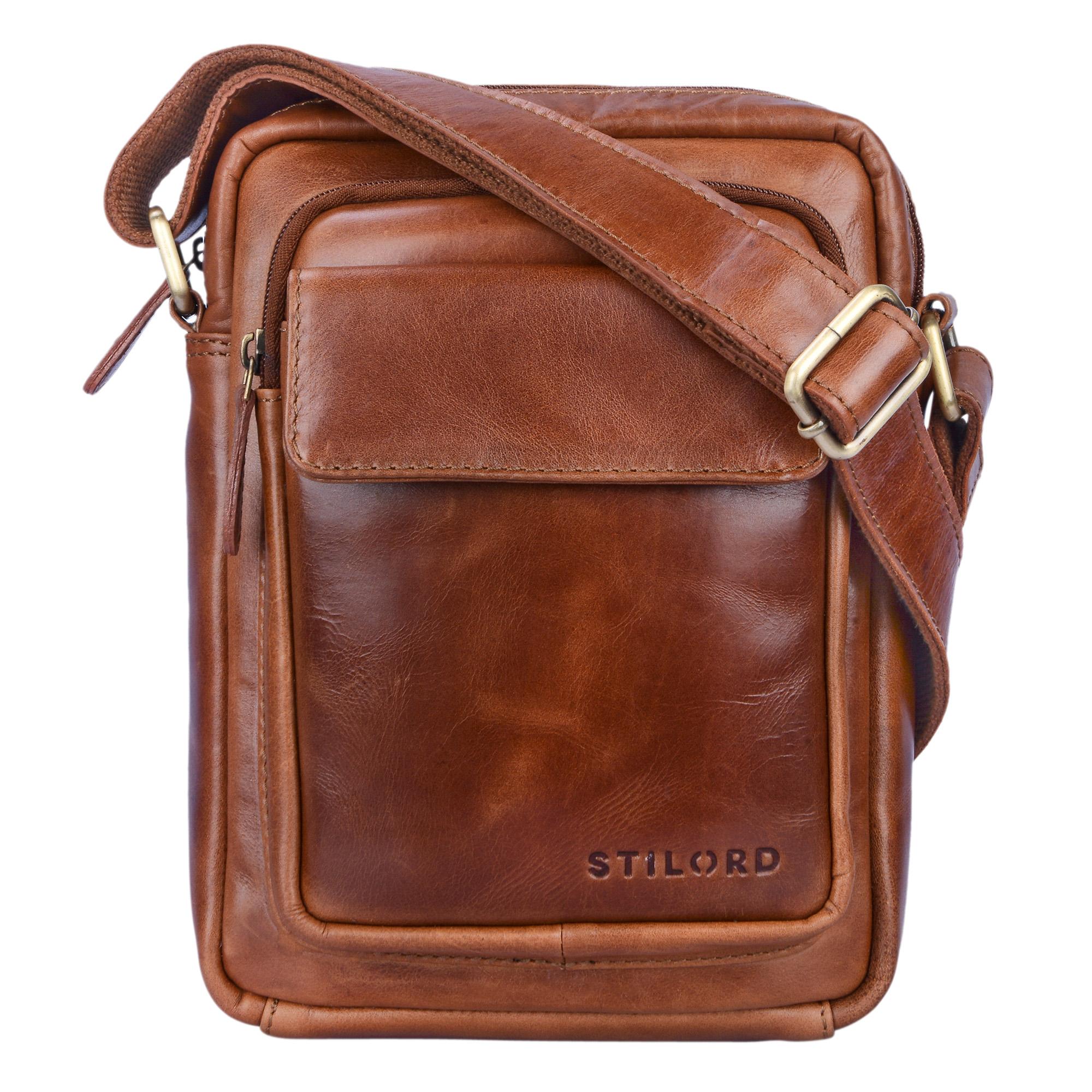 """STILORD """"Jannis"""" Leder Umhängetasche Männer klein Vintage Messenger Bag Herren-Tasche Tablettasche für 9.7 Zoll iPad Schultertasche aus echtem Leder - Bild 9"""
