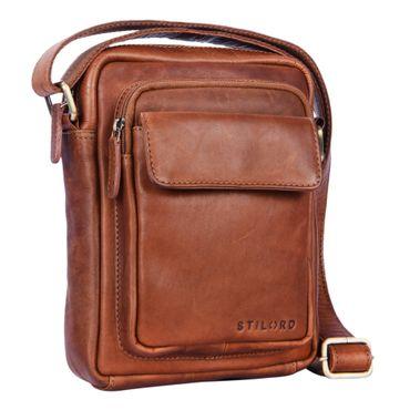 """STILORD """"Jannis"""" Leder Umhängetasche Männer klein Vintage Messenger Bag Herren-Tasche Tablettasche für 9.7 Zoll iPad Schultertasche aus echtem Leder – Bild 2"""