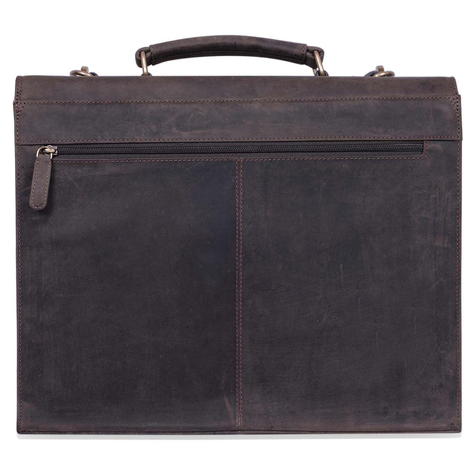 """STILORD B-WARE """"Constantin"""" Vintage Lehrertasche Aktentasche Herren Damen Bürotasche Hauptfach für 15.6 Zoll Laptop Umhängetasche groß Leder - Bild 5"""