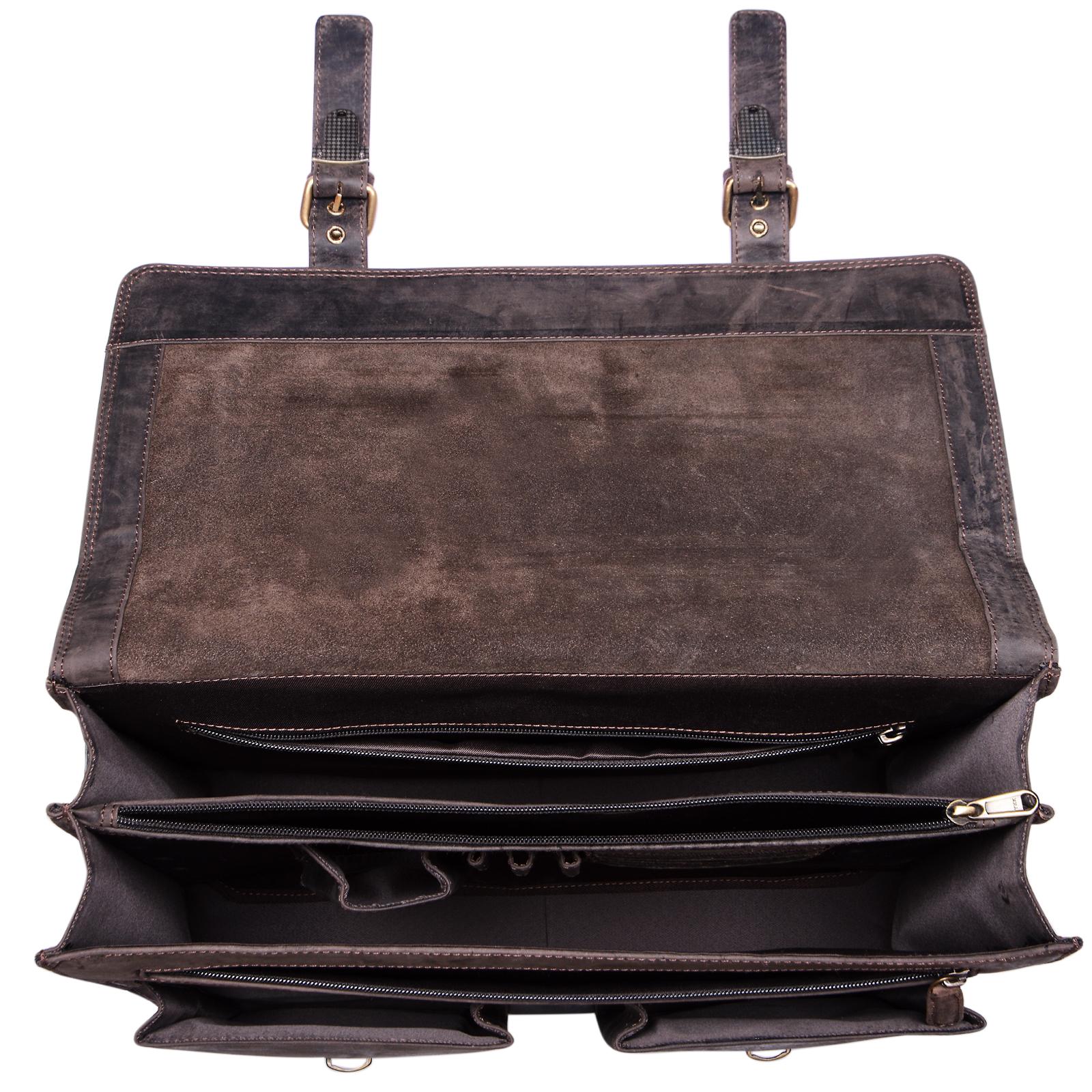 """STILORD B-WARE """"Constantin"""" Vintage Lehrertasche Aktentasche Herren Damen Bürotasche Hauptfach für 15.6 Zoll Laptop Umhängetasche groß Leder - Bild 3"""