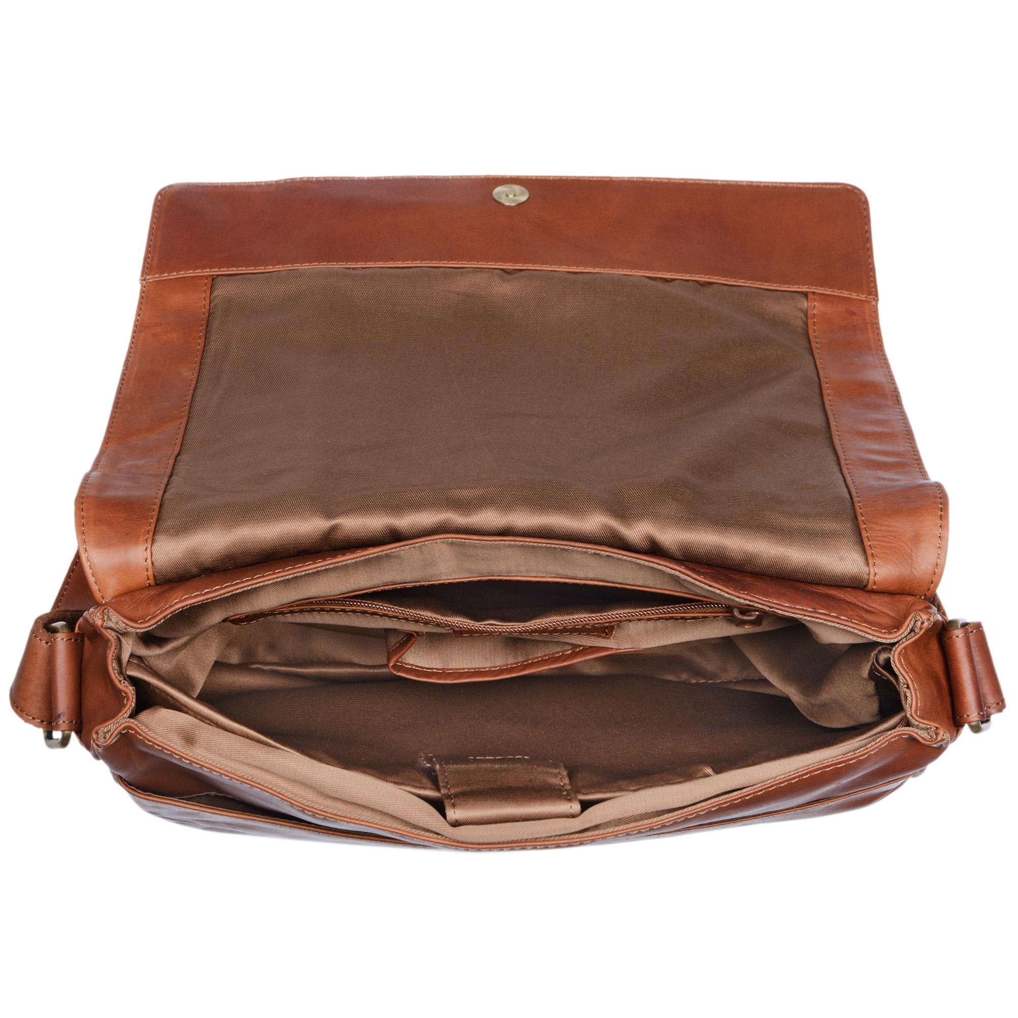 Leder Messenger Bag 13 Zoll Laptopfach