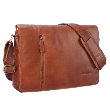 """STILORD """"Till"""" Leder Umhängetasche 13 Zoll große Vintage Schultertasche für Herren Damen Laptoptasche DIN A4 Unitasche Bürotasche aus echtem Leder"""