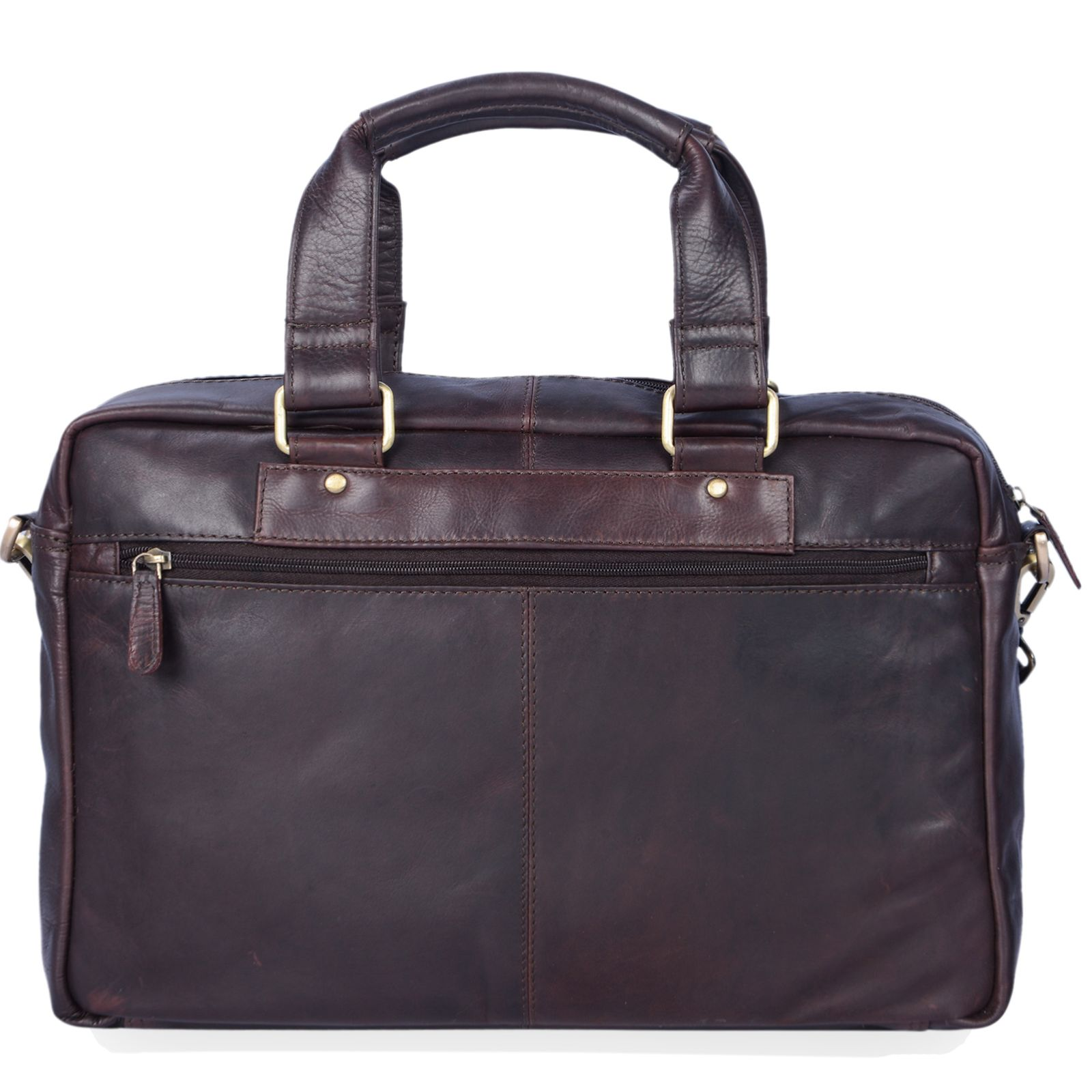 """STILORD """"Jon"""" Vintage Leder Umhängetasche Herren Damen Laptoptasche 15.6 Zoll für große DIN A4 Aktenordner Business Büro Arbeit Uni echtes Büffelleder - Bild 5"""