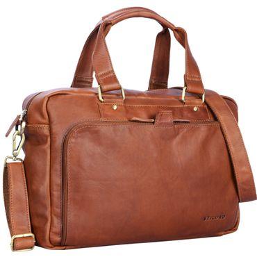 """STILORD """"Jon"""" Vintage Leder Umhängetasche Herren Damen Laptoptasche 15.6 Zoll für große DIN A4 Aktenordner Business Büro Arbeit Uni echtes Büffelleder – Bild 17"""