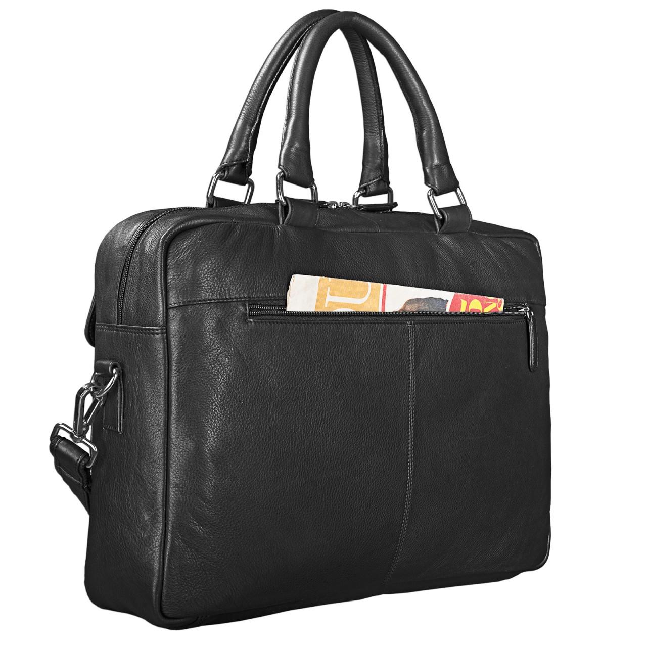 """STILORD """"Kansas"""" Umhängetasche Leder 15,6 Zoll Laptoptasche Vintage Herren Damen Schultertasche groß Uni Büro Freizeit Antikleder - Bild 14"""