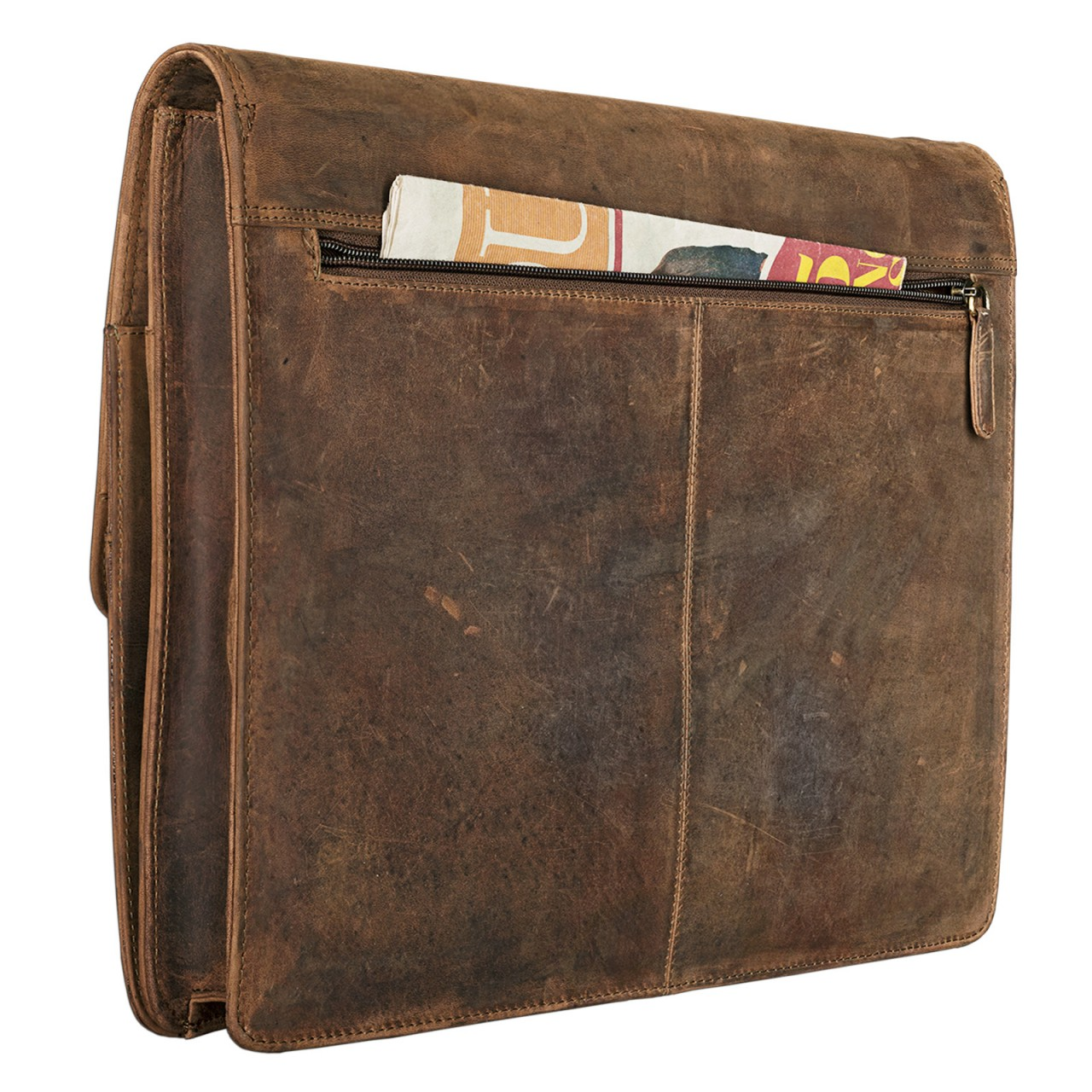 "STILORD ""Magnus"" Vintage Konferenzmappe Leder A4 Aktenmappe Aktentasche Dokumentenmappe für 13,3 Zoll MacBooks echtes Rindsleder - Bild 13"