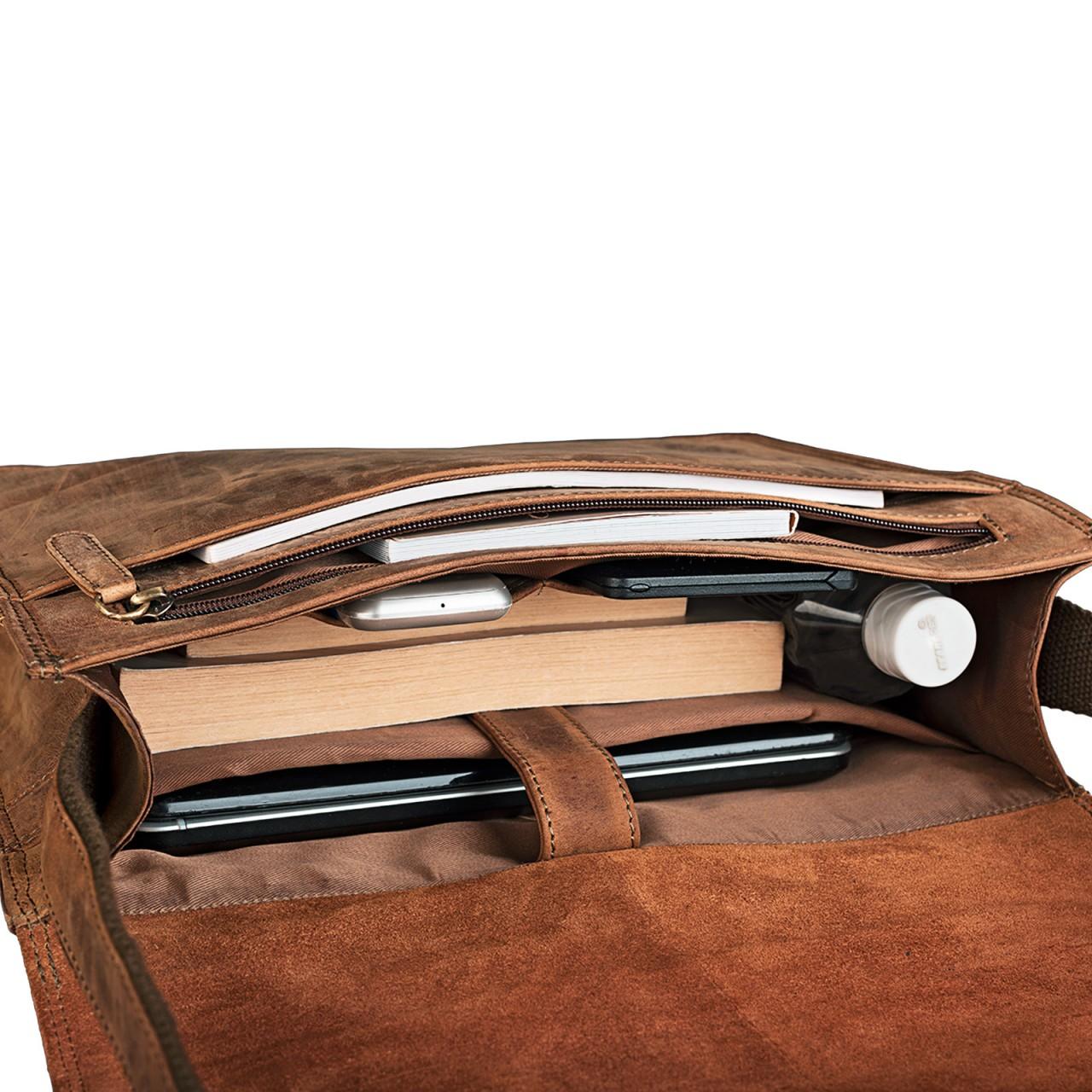 """STILORD """"Noah"""" Vintage Umhängetasche Leder 13,3 Zoll Laptoptasche Studium Uni Büro Arbeit Unisex für MacBook echtes Rindsleder - Bild 21"""
