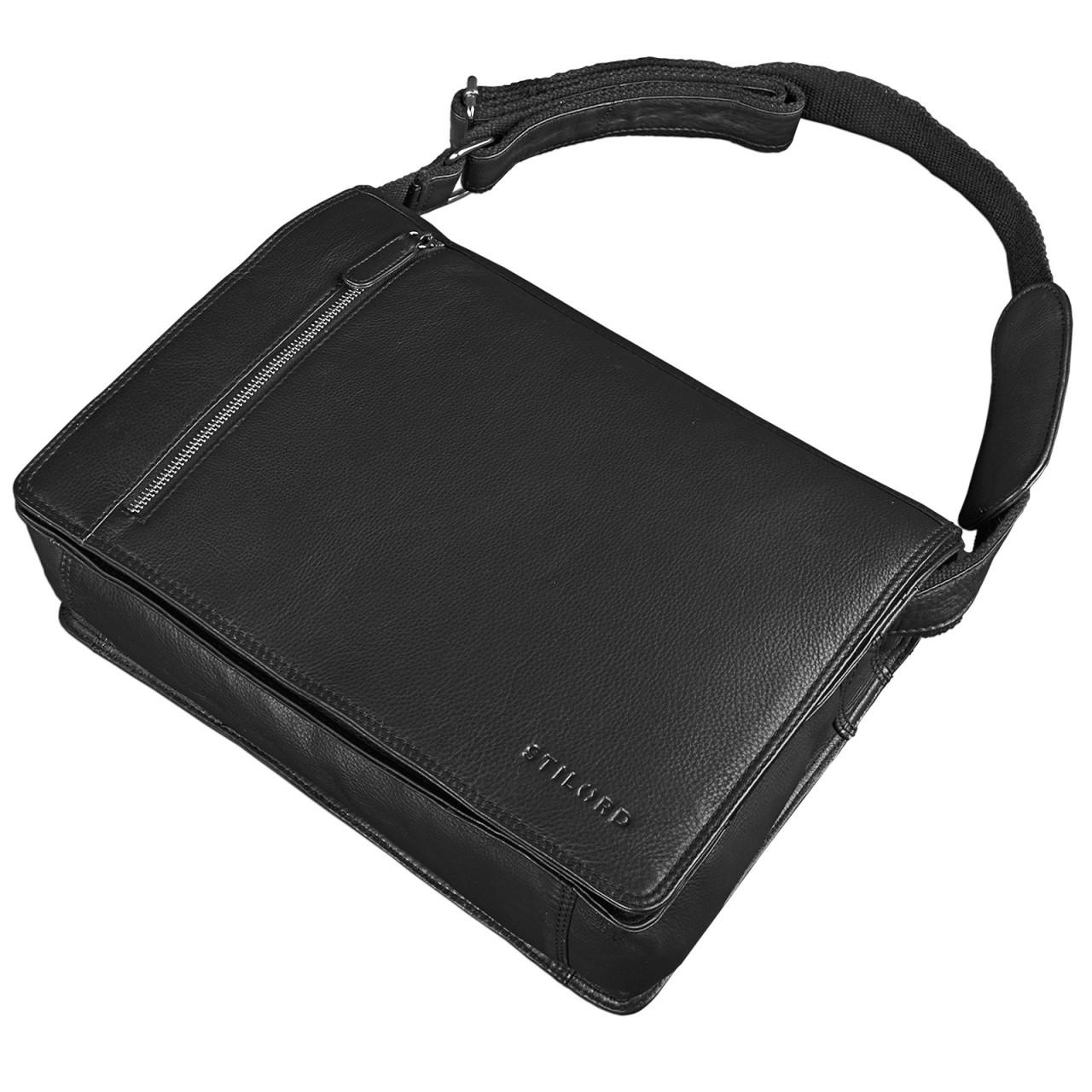 """STILORD """"Noah"""" Vintage Umhängetasche Leder 13,3 Zoll Laptoptasche Studium Uni Büro Arbeit Unisex für MacBook echtes Rindsleder - Bild 14"""