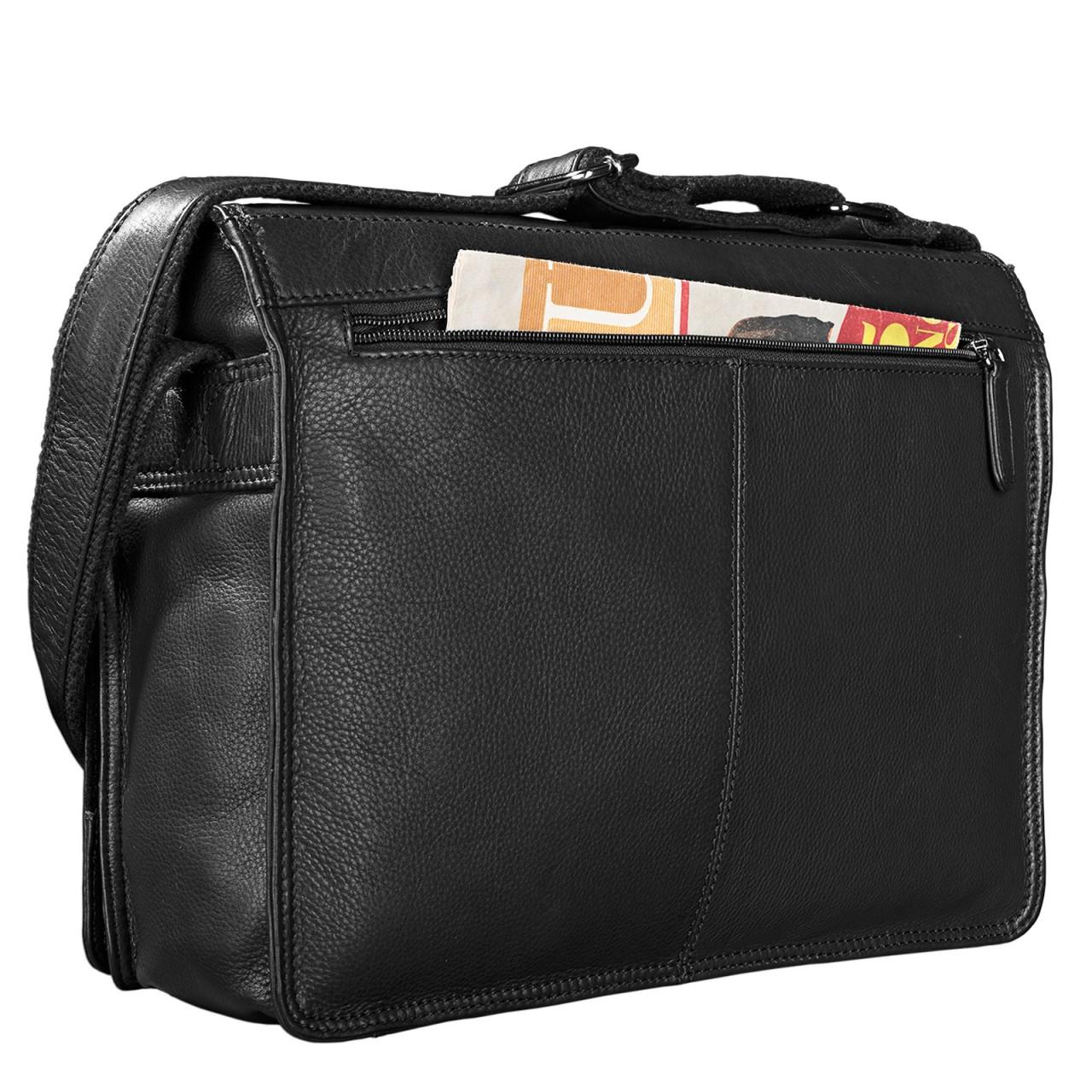 """STILORD """"Noah"""" Vintage Umhängetasche Leder 13,3 Zoll Laptoptasche Studium Uni Büro Arbeit Unisex für MacBook echtes Rindsleder - Bild 13"""