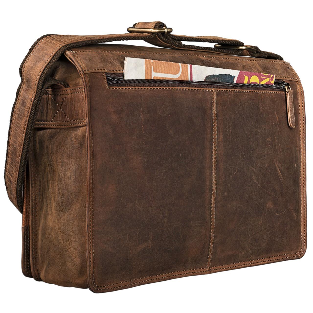"""STILORD """"Noah"""" Vintage Umhängetasche Leder 13,3 Zoll Laptoptasche Studium Uni Büro Arbeit Unisex für MacBook echtes Rindsleder - Bild 20"""