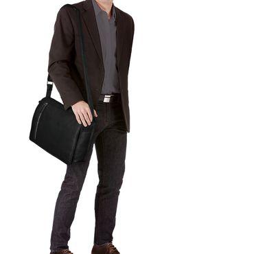 """STILORD """"Noah"""" Vintage Umhängetasche Leder 13,3 Zoll Laptoptasche Studium Uni Büro Arbeit Unisex für MacBook echtes Rindsleder – Bild 9"""