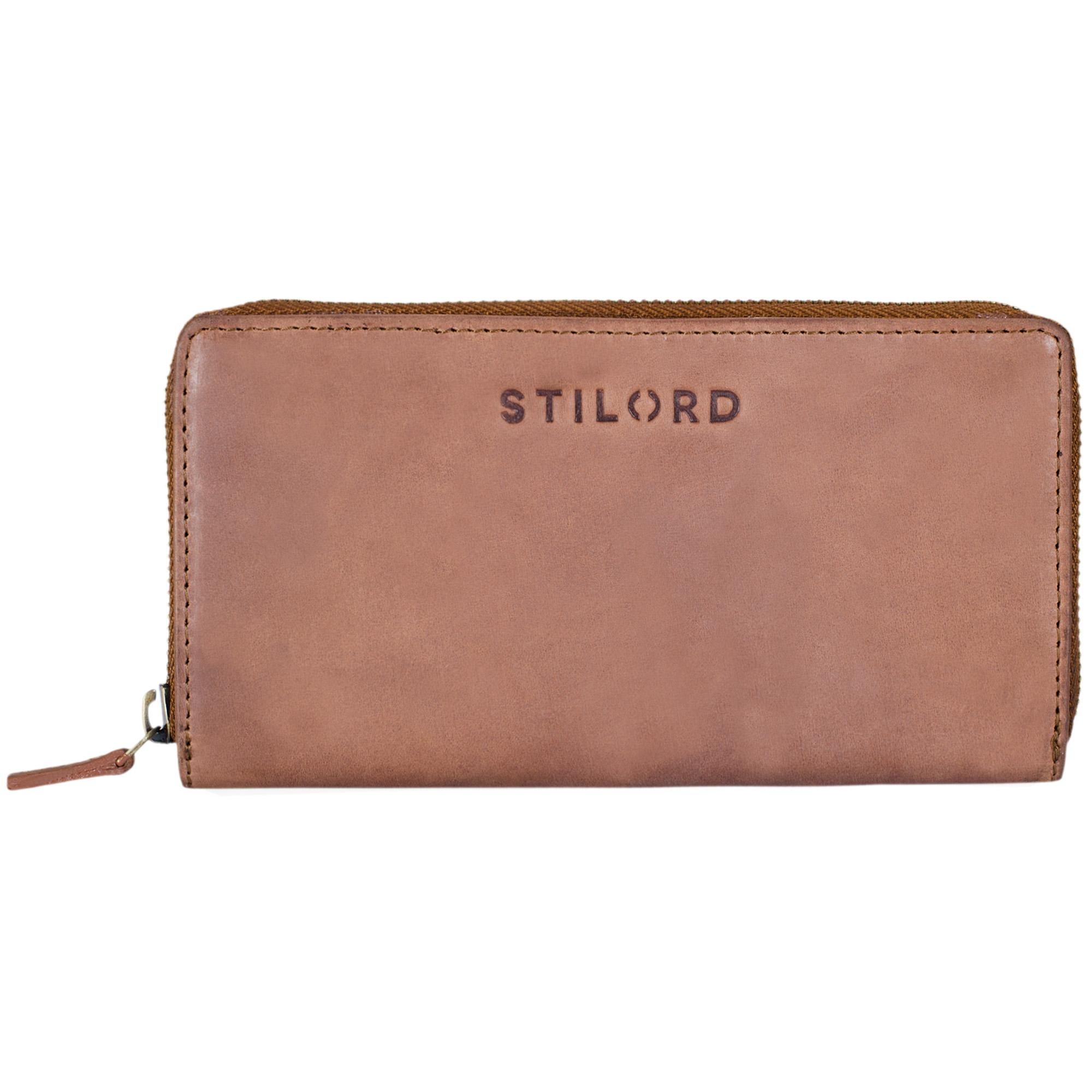 """STILORD """"Mila"""" Klassisches Portemonnaie Damen Geldbörse groß mit Reißverschluss EC-Karten Fächer Quer Leder - Bild 9"""