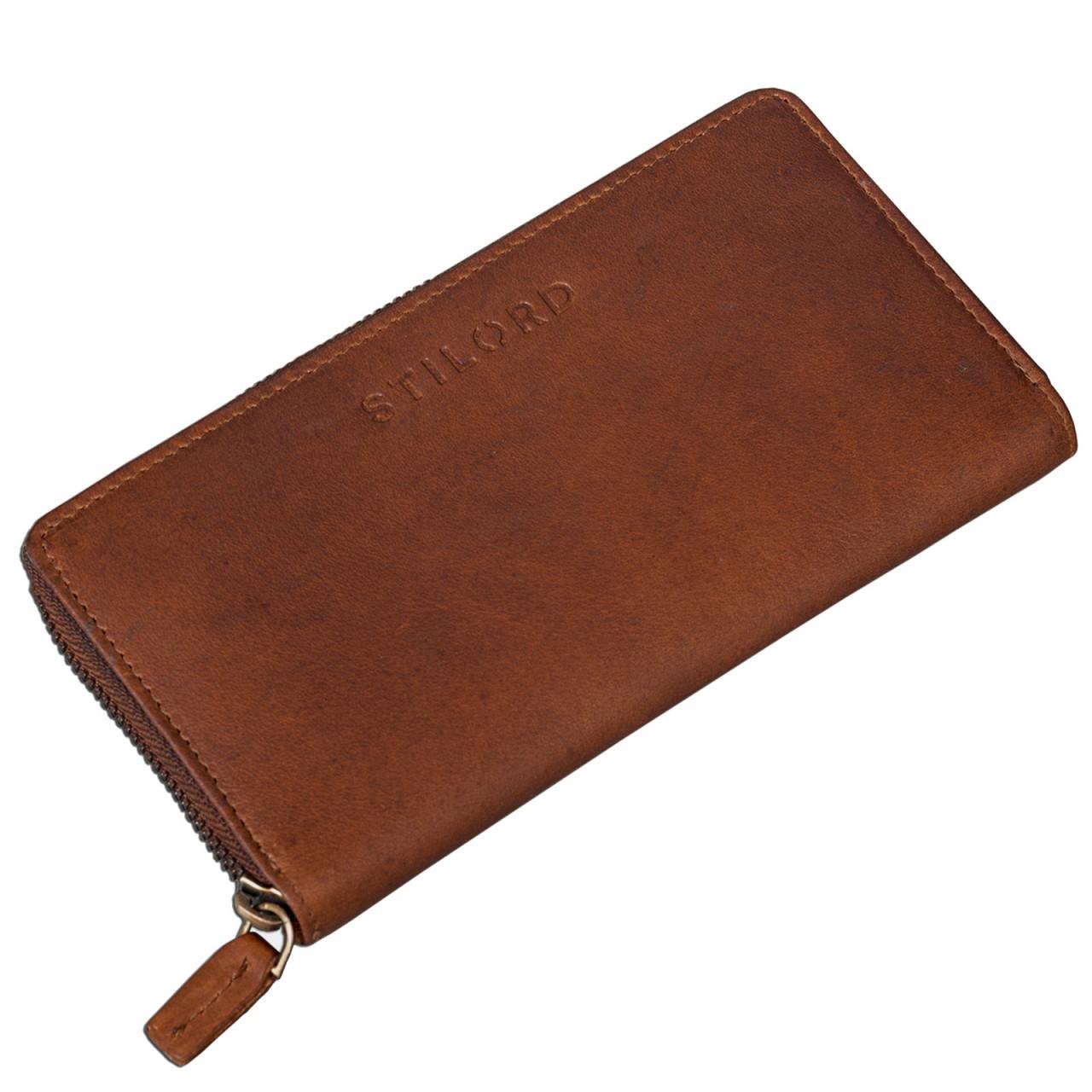 Portemonnaie braun Leder