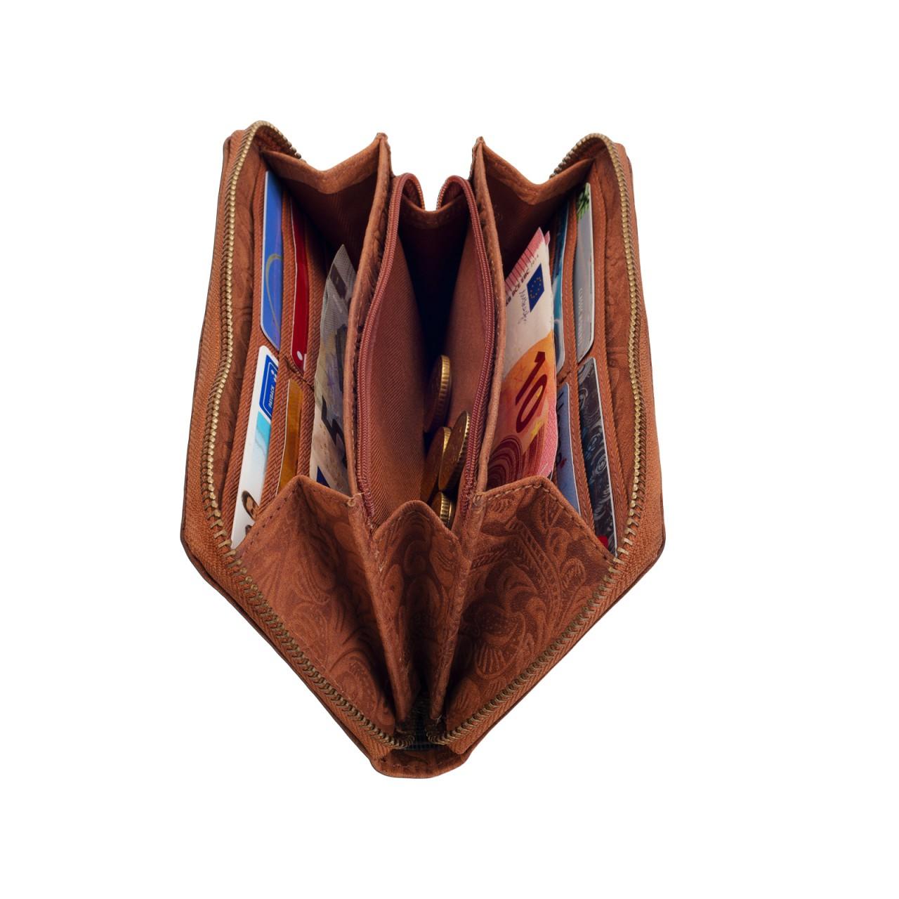 großes Portemonnaie braun Vintage