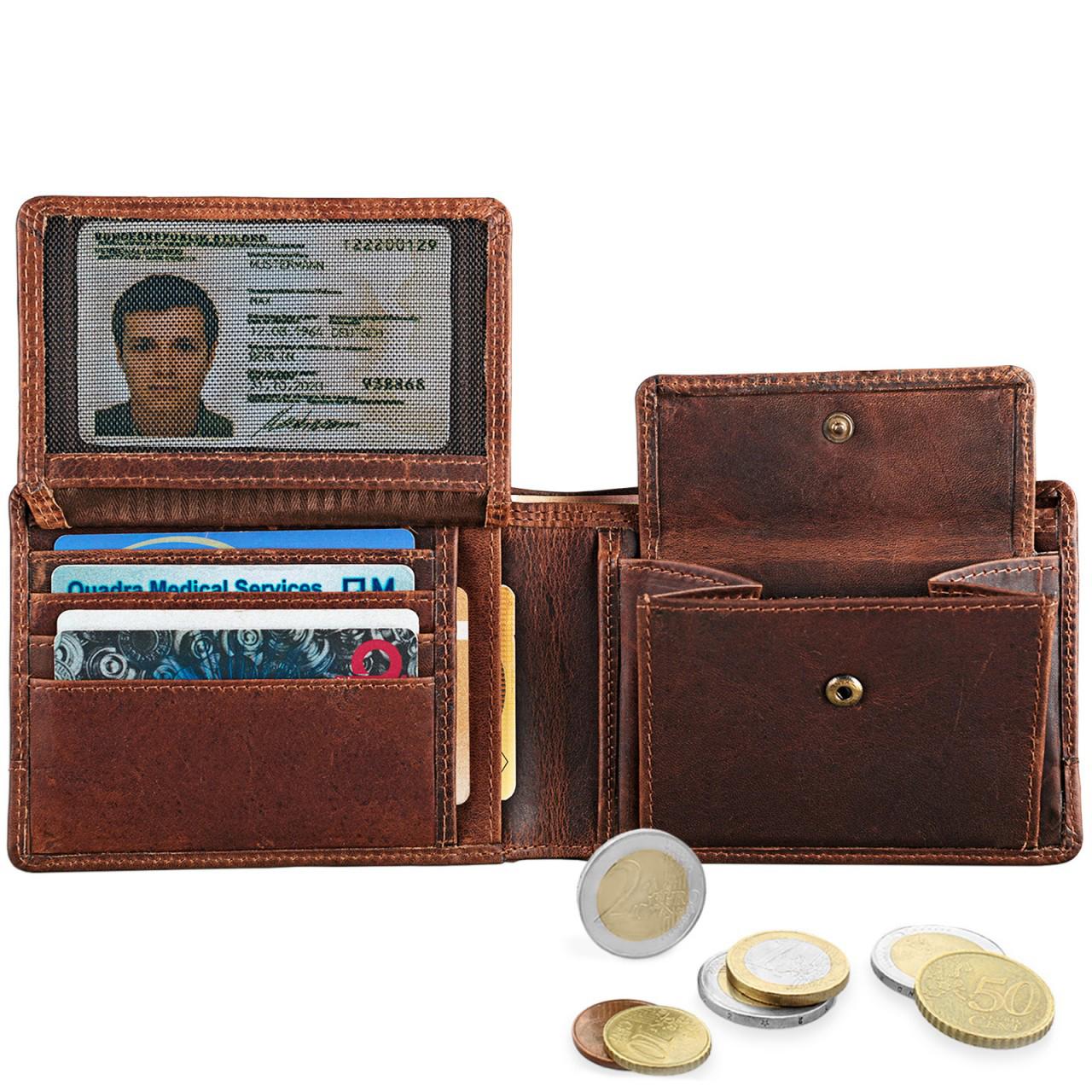 """STILORD """"Lucius"""" Vintage Portemonnaie Leder Herren Brieftasche Geldbörse Portmonee Geldbeutel Wallet Echtleder - Bild 10"""