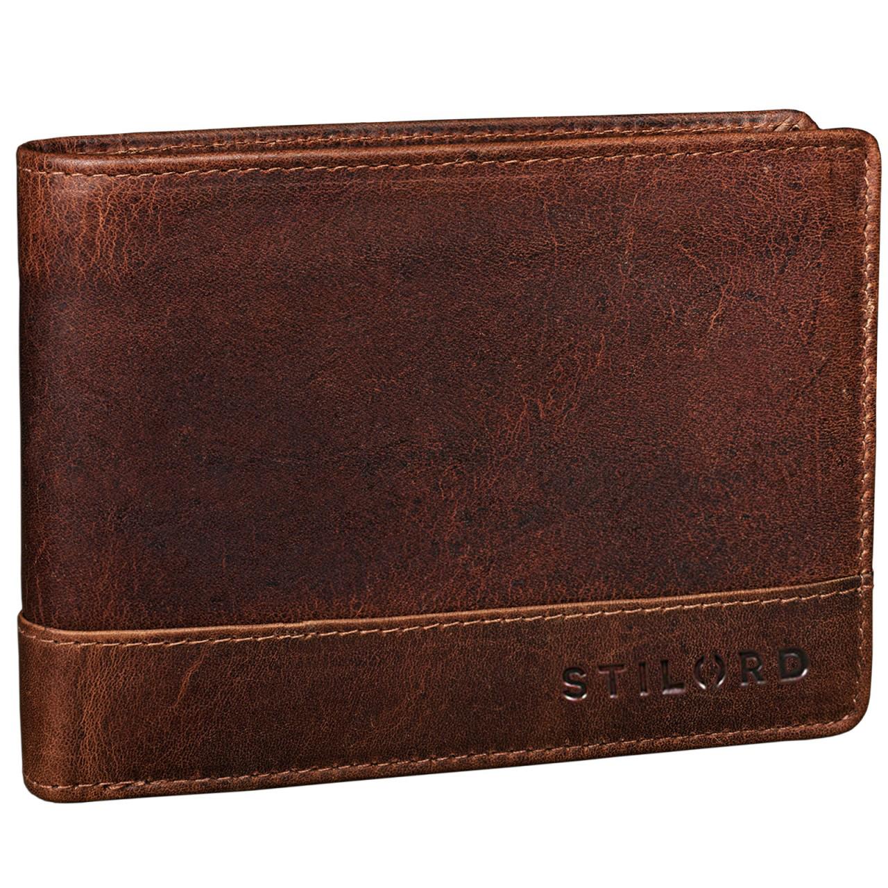 """STILORD """"Lucius"""" Vintage Portemonnaie Leder Herren Brieftasche Geldbörse Portmonee Geldbeutel Wallet Echtleder - Bild 7"""