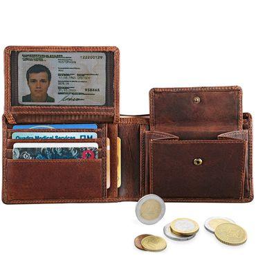 """STILORD """"Lucius"""" Vintage Portemonnaie Leder Herren Brieftasche Geldbörse Portmonee Geldbeutel Wallet Echtleder – Bild 10"""
