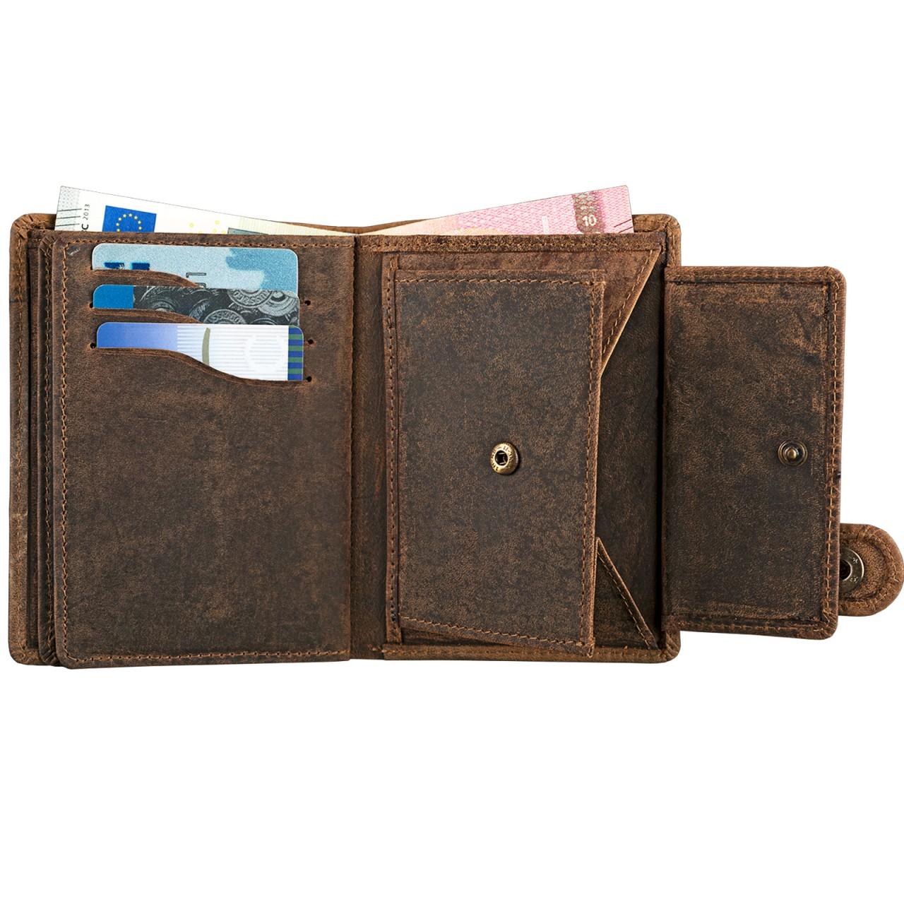 """STILORD """"Milo"""" Vintage Ledergeldbörse Herren / Portemonnaie mit Druckknopf / Brieftasche / Geldbörse Hochformat Antik Leder - Bild 14"""