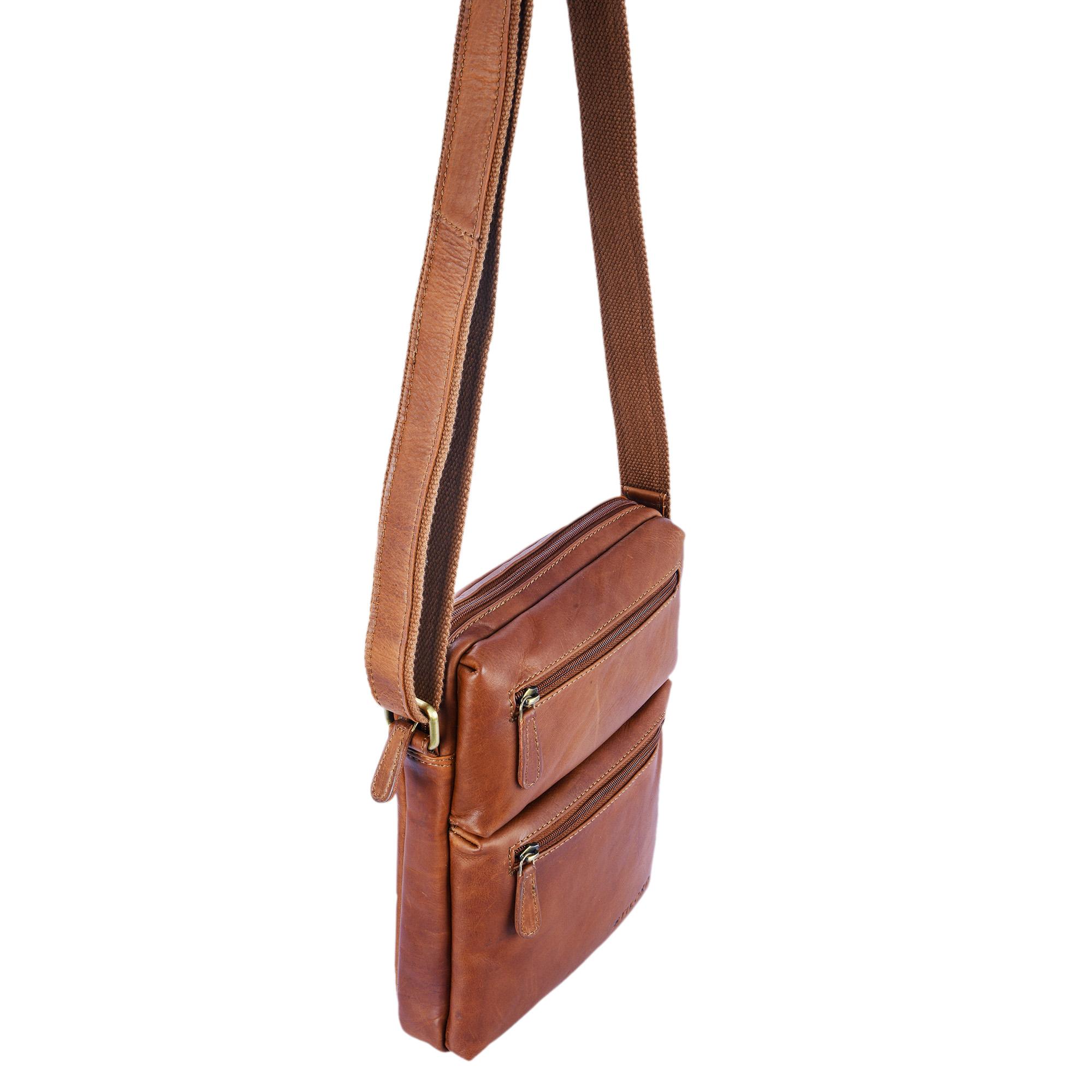 Leder Cross Body Bag Vintage