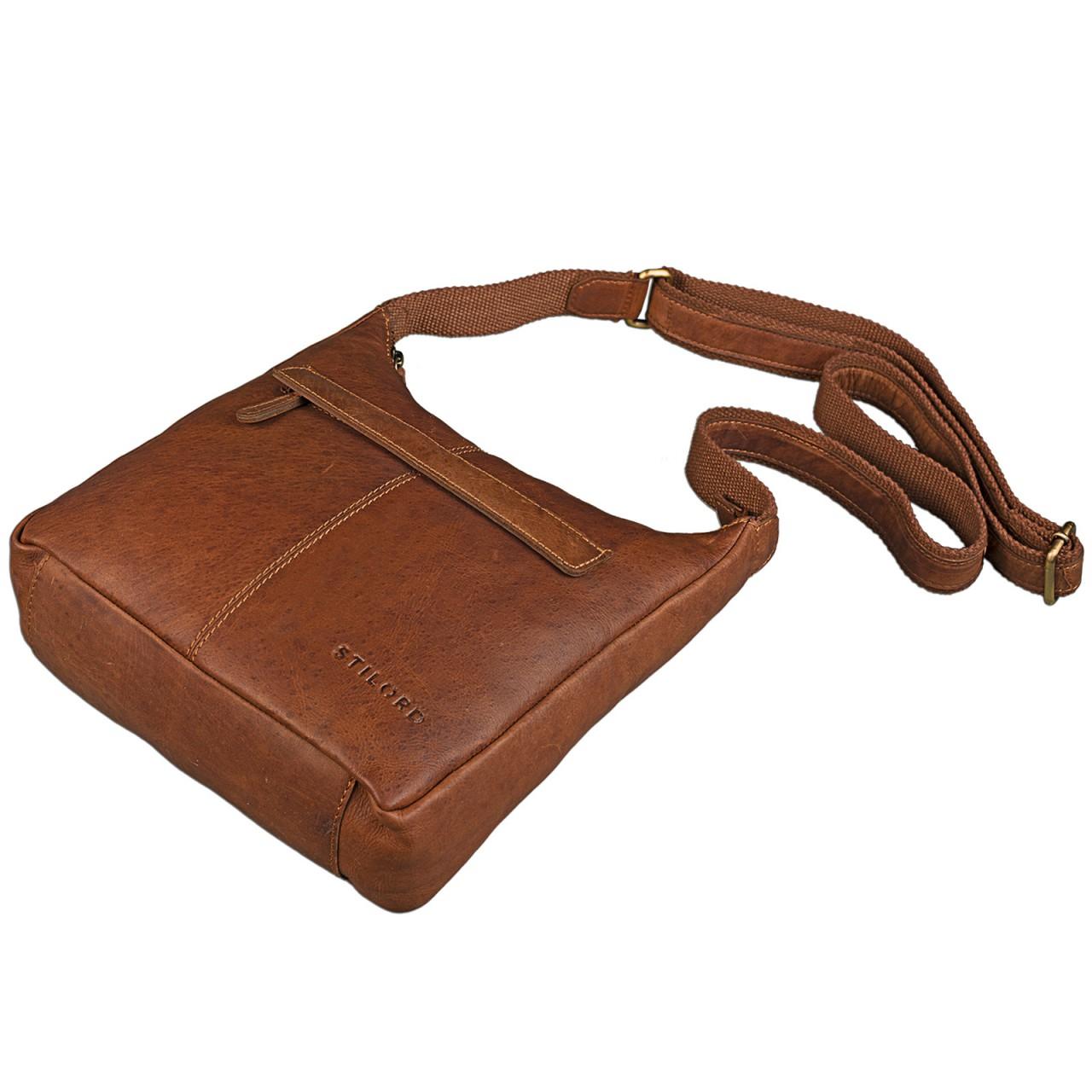 STILORD kleine Lederhandtasche Umhängetasche Vintage Handtasche mit verstellbarem Schulterriemen aus weichem Antik Leder Damen - Bild 22
