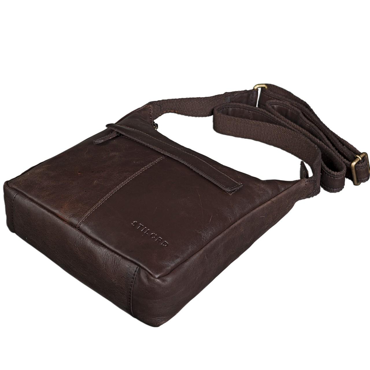 STILORD kleine Lederhandtasche Umhängetasche Vintage Handtasche mit verstellbarem Schulterriemen aus weichem Antik Leder Damen - Bild 15