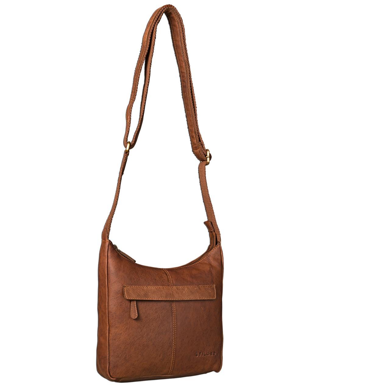 STILORD kleine Lederhandtasche Umhängetasche Vintage Handtasche mit verstellbarem Schulterriemen aus weichem Antik Leder Damen - Bild 24