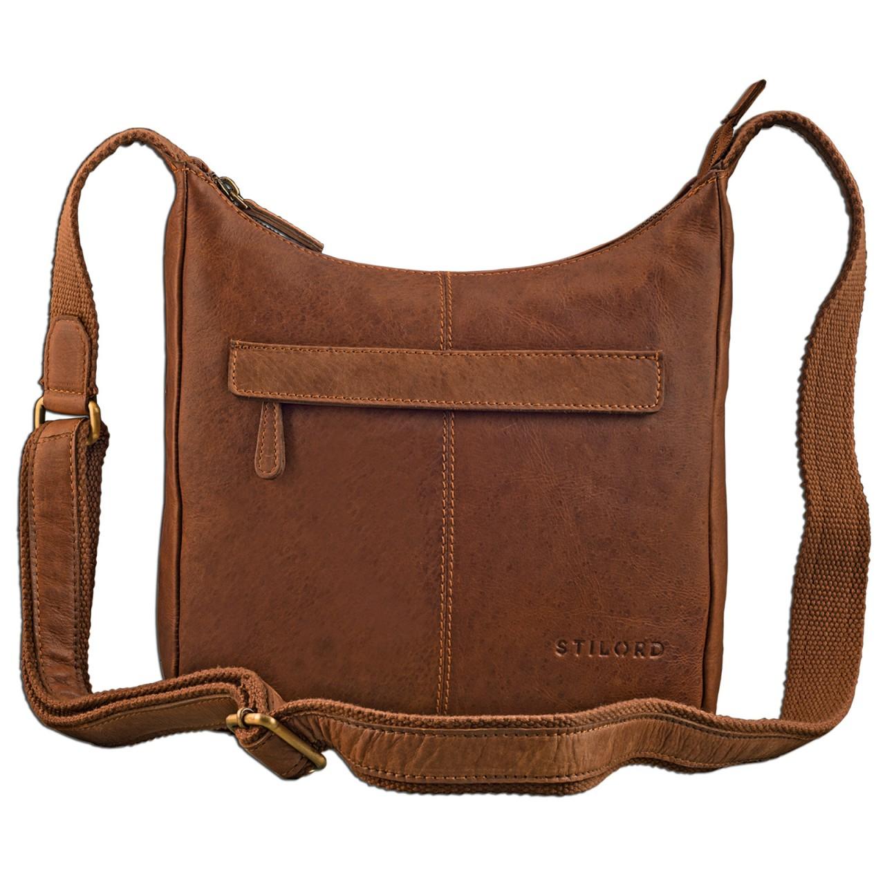 STILORD kleine Lederhandtasche Umhängetasche Vintage Handtasche mit verstellbarem Schulterriemen aus weichem Antik Leder Damen - Bild 20