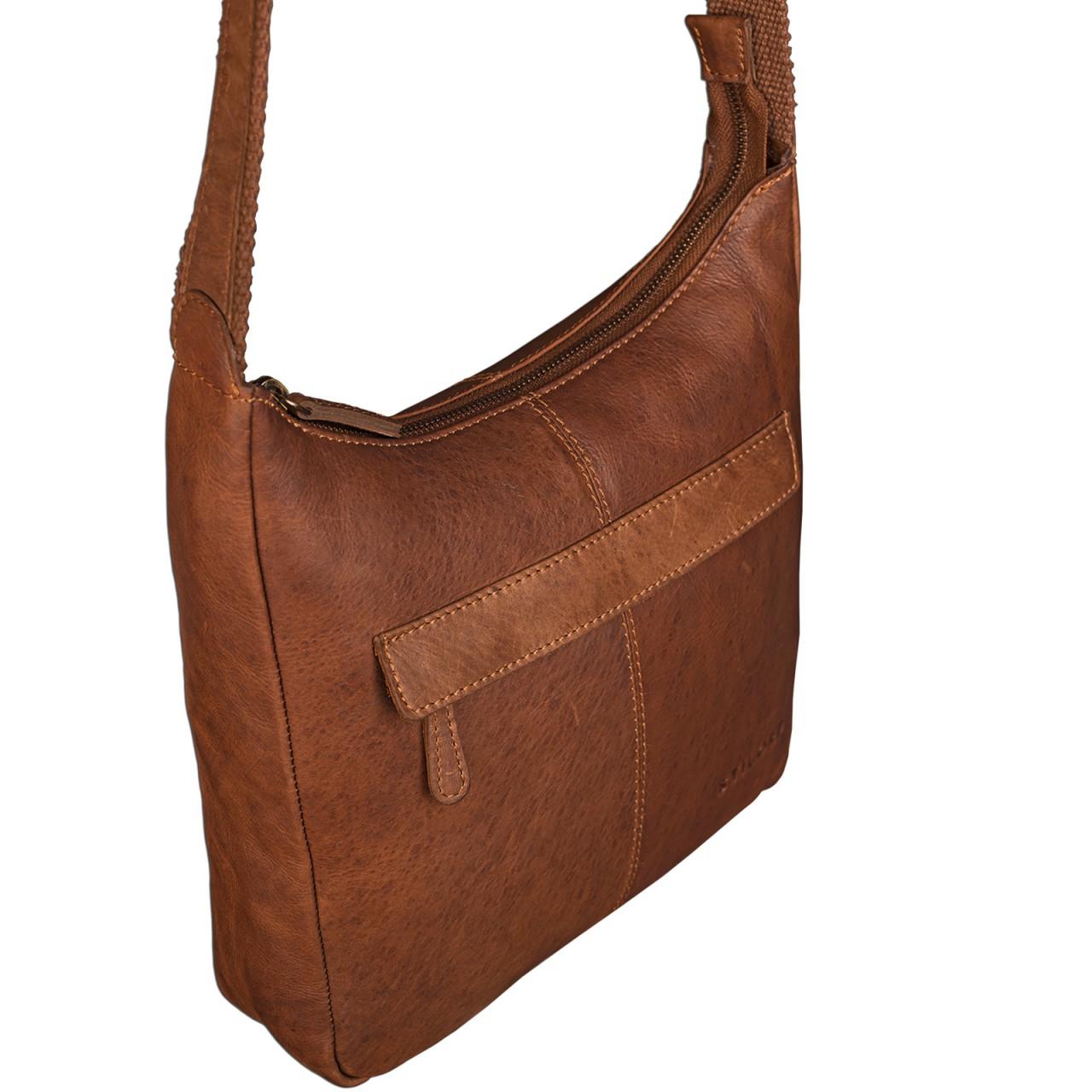 STILORD kleine Lederhandtasche Umhängetasche Vintage Handtasche mit verstellbarem Schulterriemen aus weichem Antik Leder Damen - Bild 21