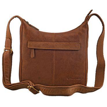STILORD kleine Lederhandtasche Umhängetasche Vintage Handtasche mit verstellbarem Schulterriemen aus weichem Antik Leder Damen – Bild 20
