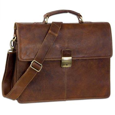 """STILORD """"Edward"""" Herren Aktentasche Dokumententasche Laptoptasche Business Büro Tasche mit Schultergurt echt Leder Farbe: prestige - braun"""