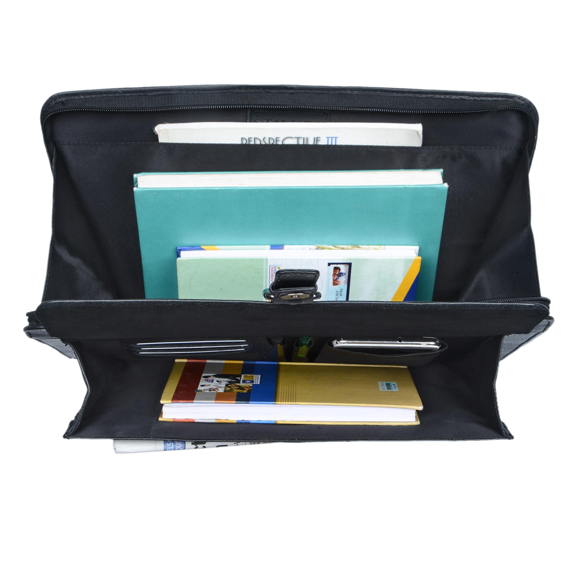 """STILORD """"Emilius"""" Aktenmappe Leder A4 Vintage Konferenzmappe mit Reißverschluss Schreibmappe für 13,3 Zoll Laptop MacBook elegante Konferenzmappe Echtleder - Bild 18"""