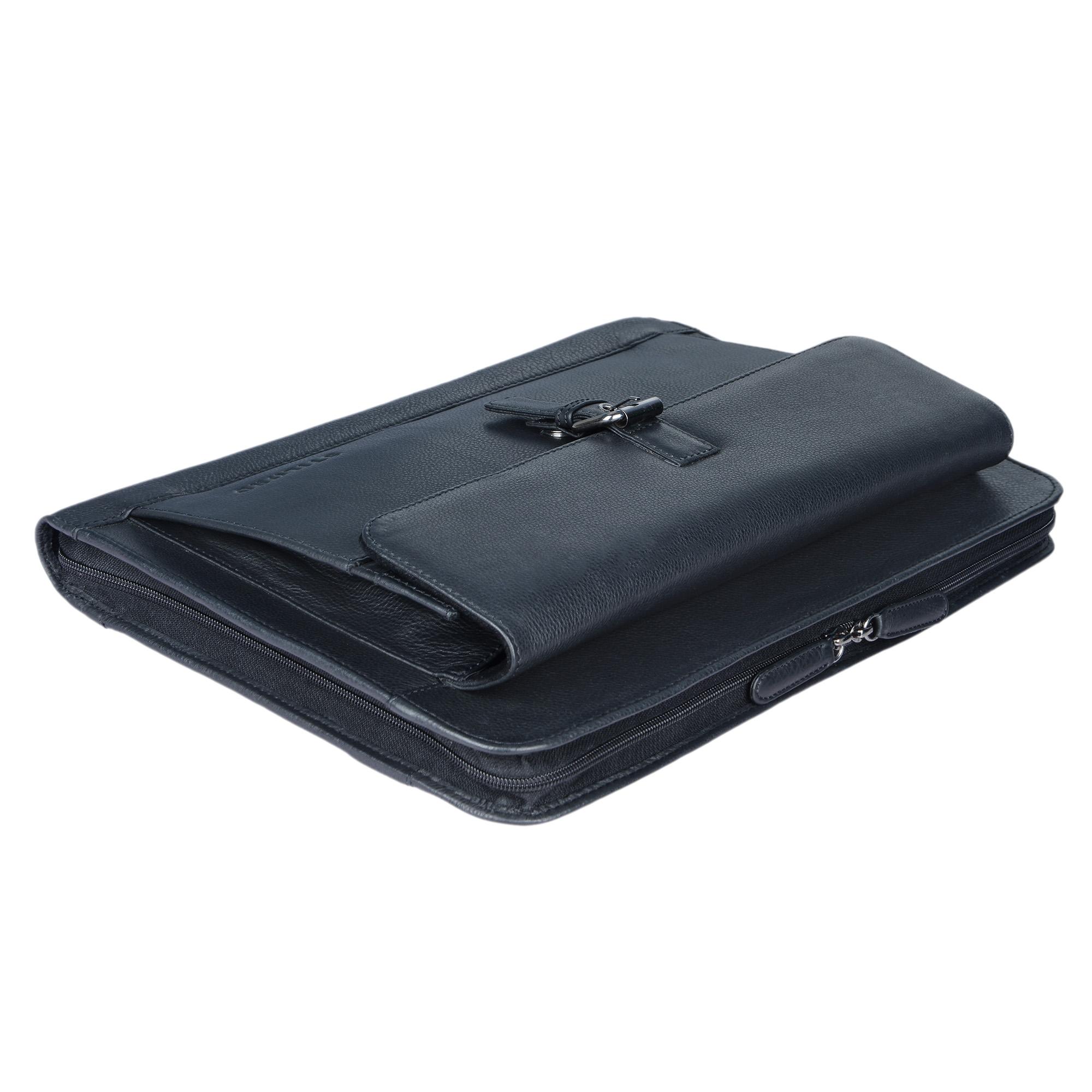 """STILORD """"Emilius"""" Aktenmappe Leder A4 Vintage Konferenzmappe mit Reißverschluss Schreibmappe für 13,3 Zoll Laptop MacBook elegante Konferenzmappe Echtleder - Bild 20"""