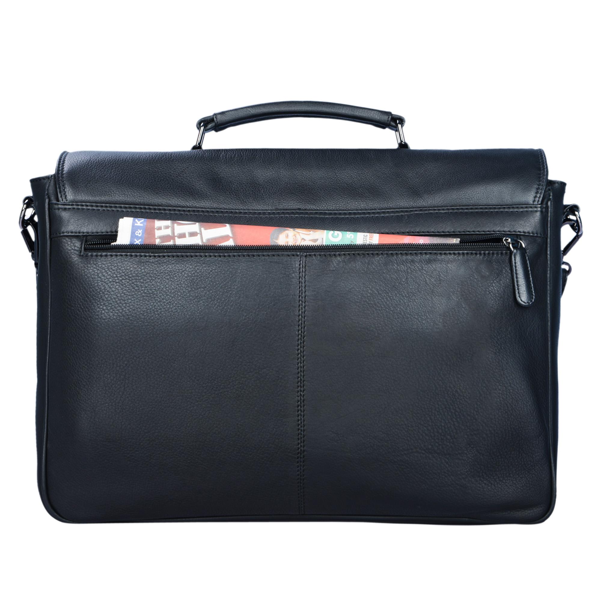 """STILORD """"Victor"""" Vintage Aktentasche Herren Leder moderne Businesstasche für große A4 Aktenordner XL Umhängetasche 15.6 Zoll mit Dreifachtrenner aus echtem Leder - Bild 21"""