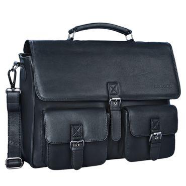 """STILORD """"Victor"""" Vintage Aktentasche Herren Leder moderne Businesstasche für große A4 Aktenordner XL Umhängetasche 15.6 Zoll mit Dreifachtrenner aus echtem Leder – Bild 15"""