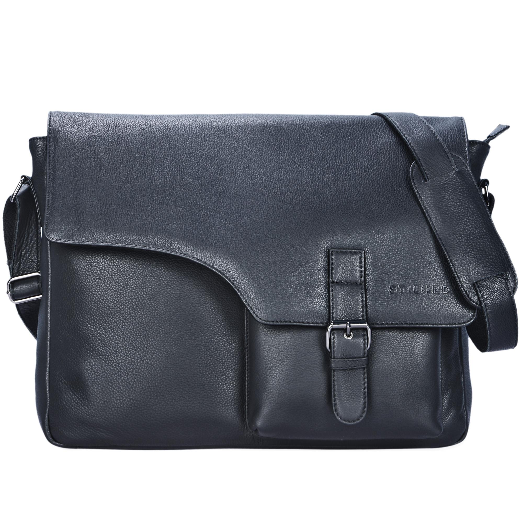 """STILORD """"Valerian"""" Leder Umhängetasche Herren Messenger Bag Business Uni Büro groß DIN A4 Laptoptasche Aktentasche Vintage Rindsleder - Bild 9"""