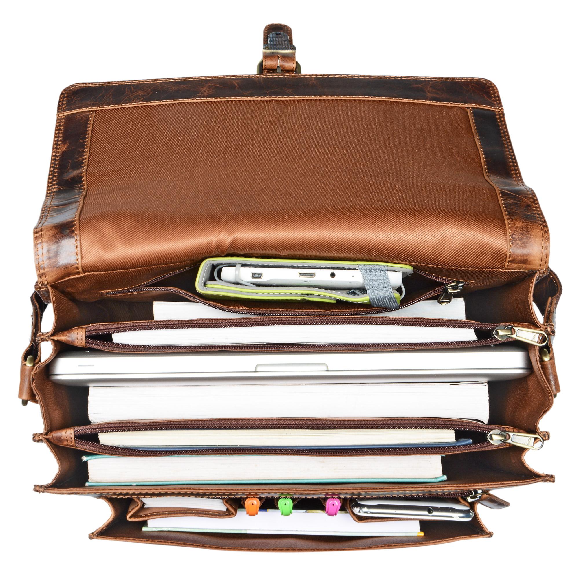 Bürotasche Leder 13,3 Zoll MacBook