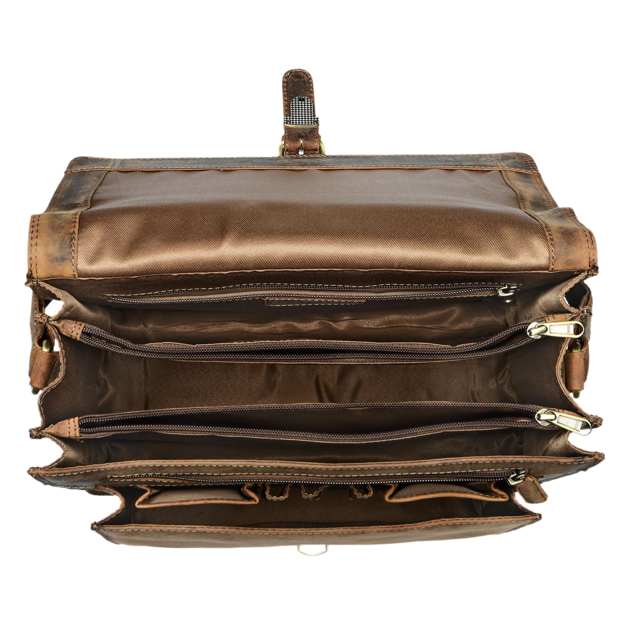 """STILORD """"Romeo"""" Kleine Aktentasche Leder für Herren Damen Vintage Businesstasche Bürotasche für DIN A4 Dokumente und 13,3 Zoll Laptops MacBooks aus echtem Leder - Bild 11"""