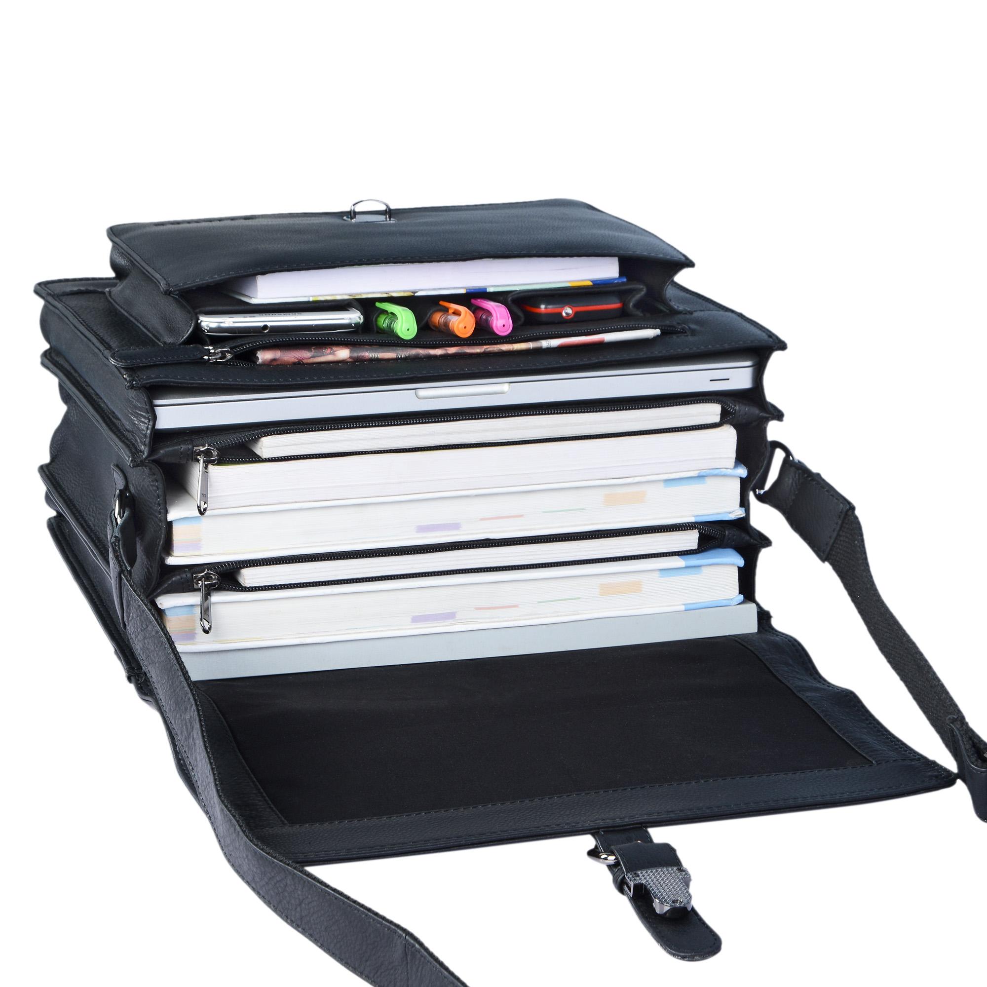 """STILORD """"Romeo"""" Kleine Aktentasche Leder für Herren Damen Vintage Businesstasche Bürotasche für DIN A4 Dokumente und 13,3 Zoll Laptops MacBooks aus echtem Leder - Bild 20"""