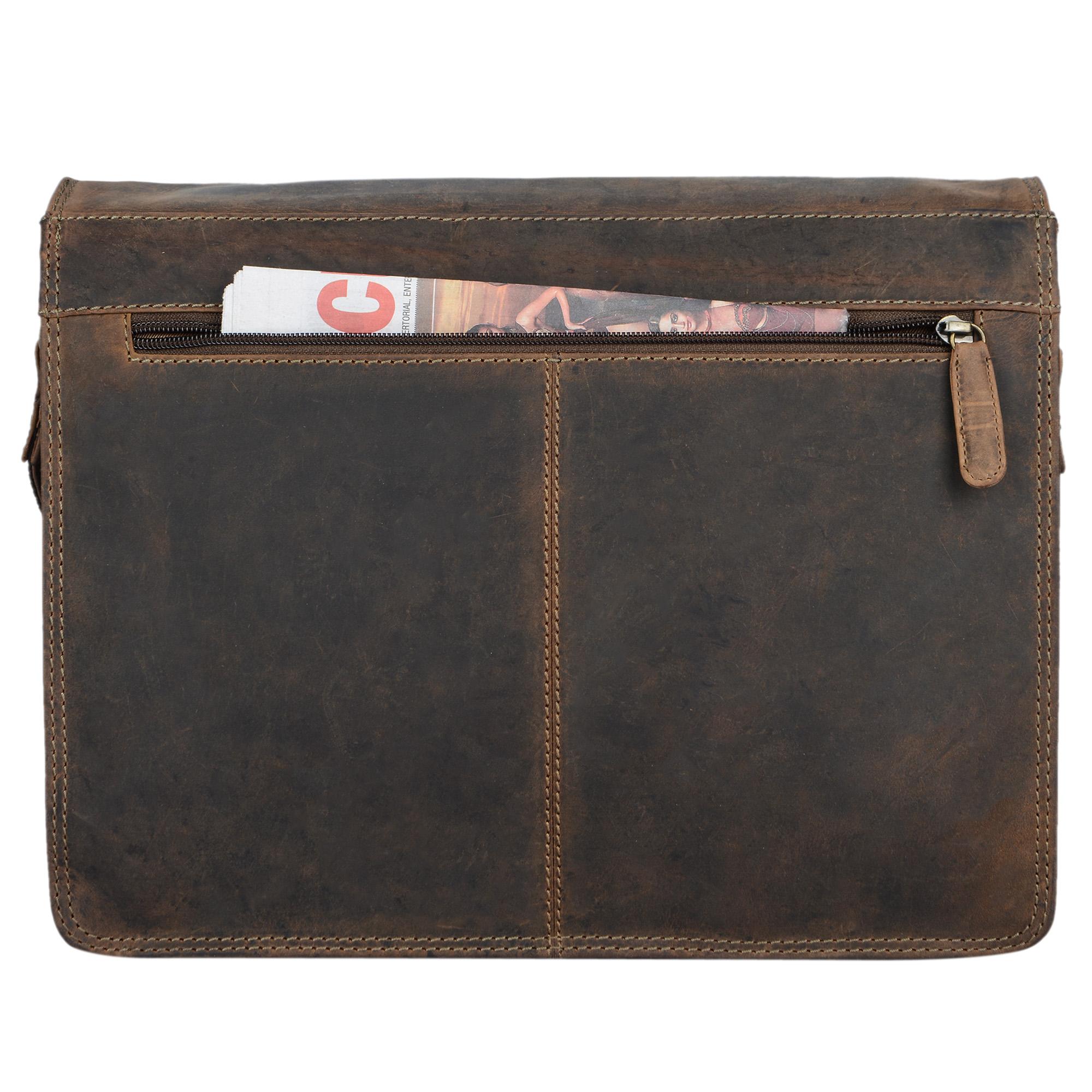 """STILORD """"Romeo"""" Kleine Aktentasche Leder für Herren Damen Vintage Businesstasche Bürotasche für DIN A4 Dokumente und 13,3 Zoll Laptops MacBooks aus echtem Leder - Bild 14"""
