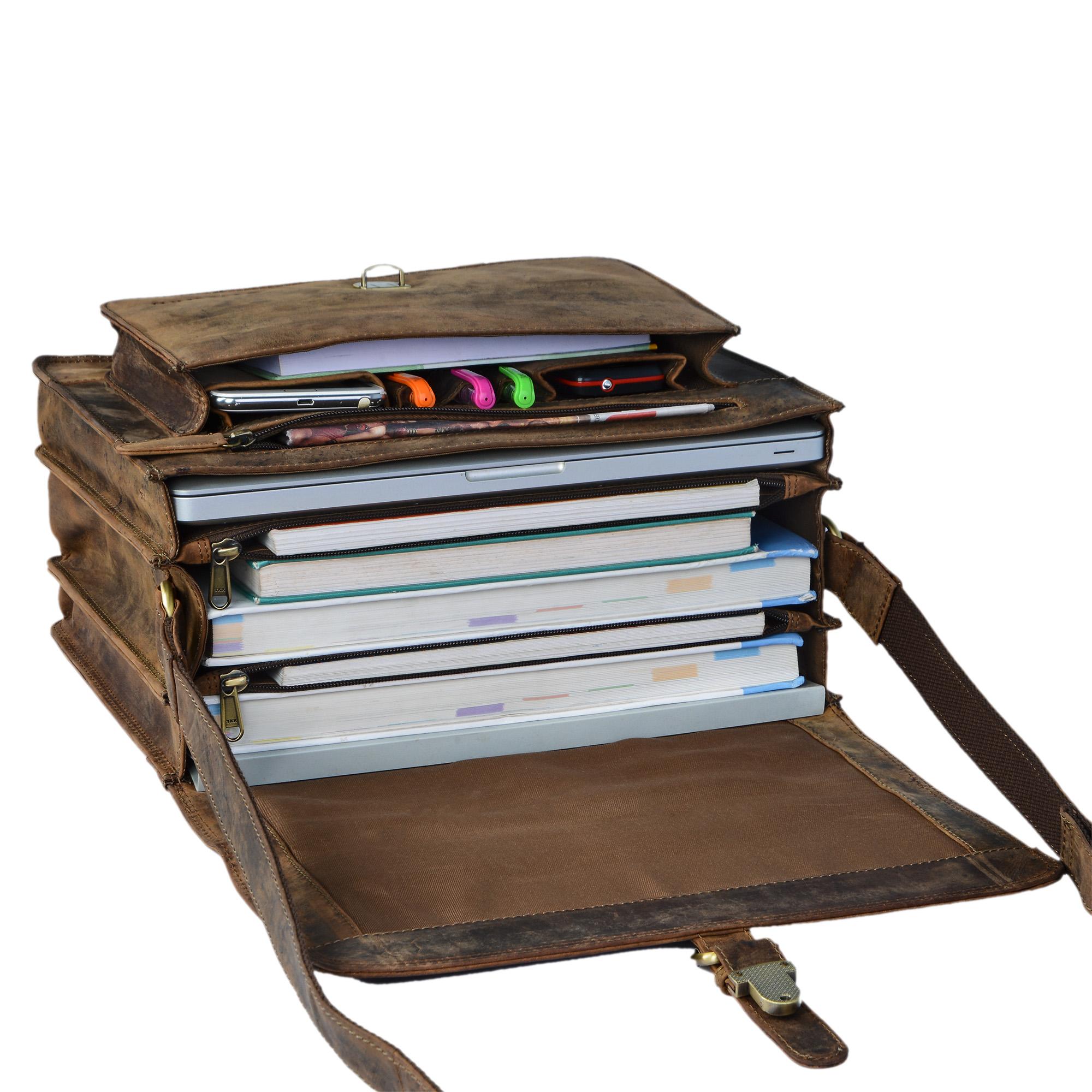 """STILORD """"Romeo"""" Kleine Aktentasche Leder für Herren Damen Vintage Businesstasche Bürotasche für DIN A4 Dokumente und 13,3 Zoll Laptops MacBooks aus echtem Leder - Bild 13"""