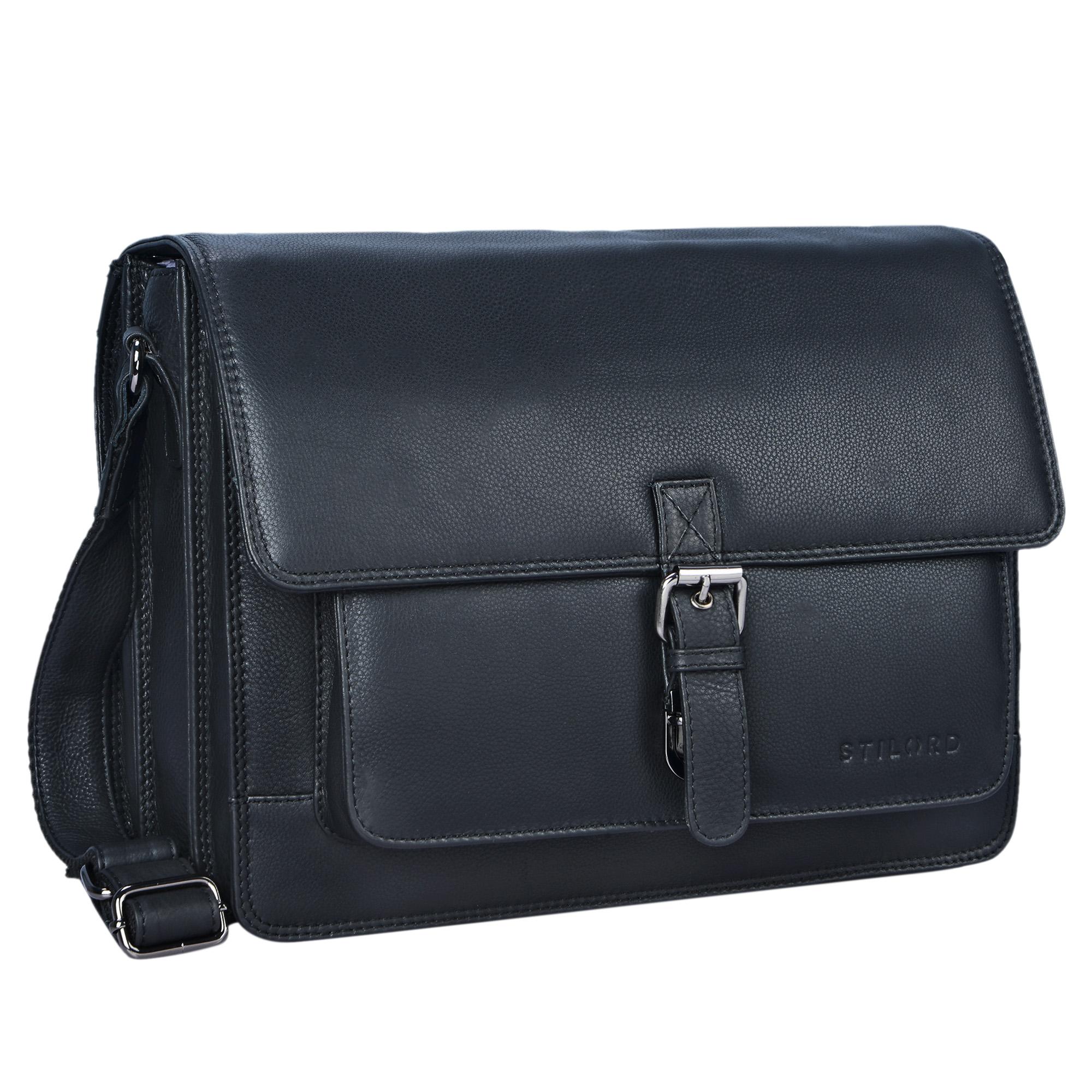 """STILORD """"Romeo"""" Kleine Aktentasche Leder für Herren Damen Vintage Businesstasche Bürotasche für DIN A4 Dokumente und 13,3 Zoll Laptops MacBooks aus echtem Leder - Bild 15"""