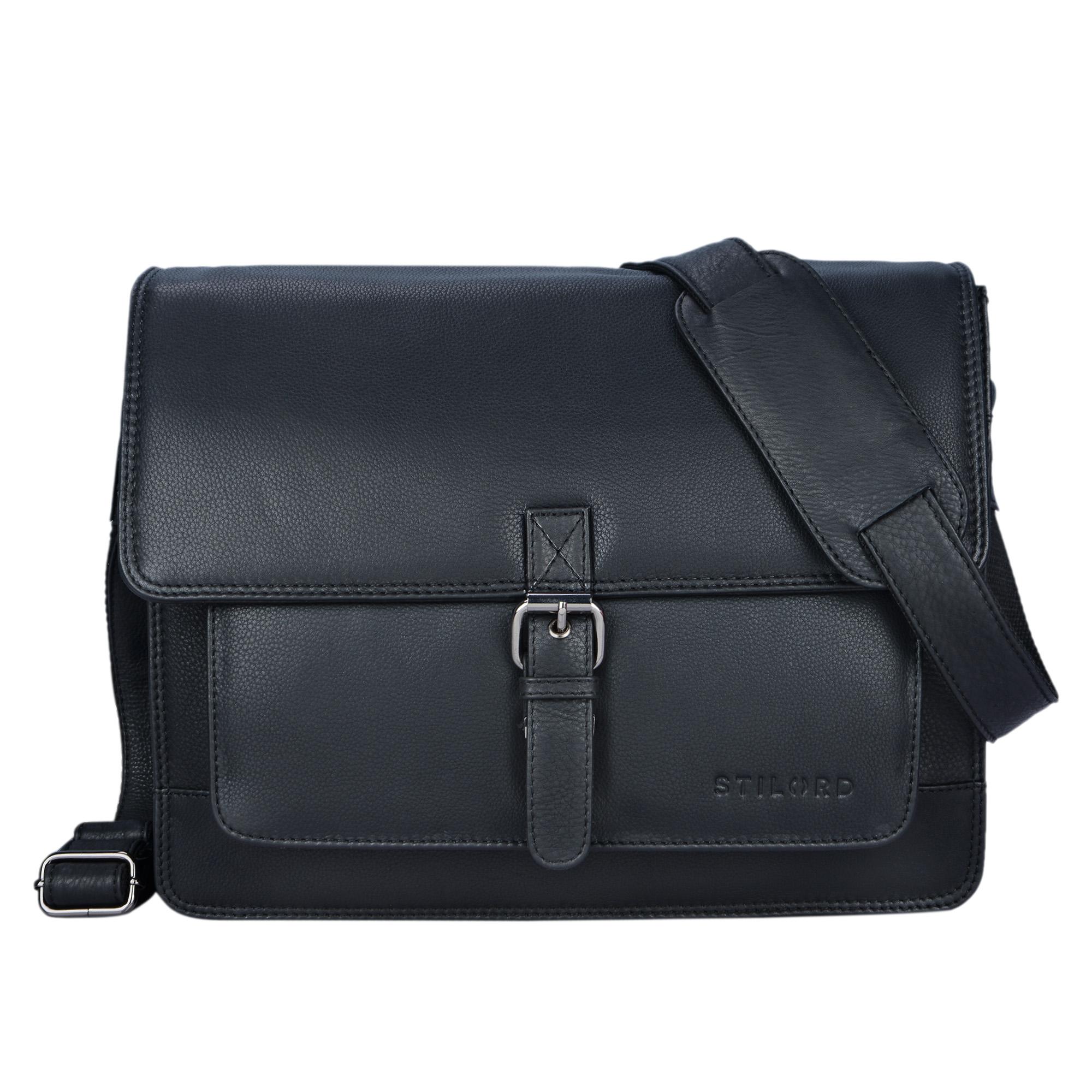 """STILORD """"Romeo"""" Kleine Aktentasche Leder für Herren Damen Vintage Businesstasche Bürotasche für DIN A4 Dokumente und 13,3 Zoll Laptops MacBooks aus echtem Leder - Bild 16"""