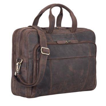 """STILORD """"Jaron"""" Vintage Ledertasche Leder Herren Damen 15,6 Zoll Laptoptasche Umhängetasche groß Aktentasche Arbeit Büro Uni echtes Rindsleder – Bild 10"""