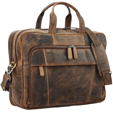 """STILORD """"Jaron"""" Vintage Ledertasche Leder Herren Damen 15,6 Zoll Laptoptasche Umhängetasche groß Aktentasche Arbeit Büro Uni echtes Rindsleder"""