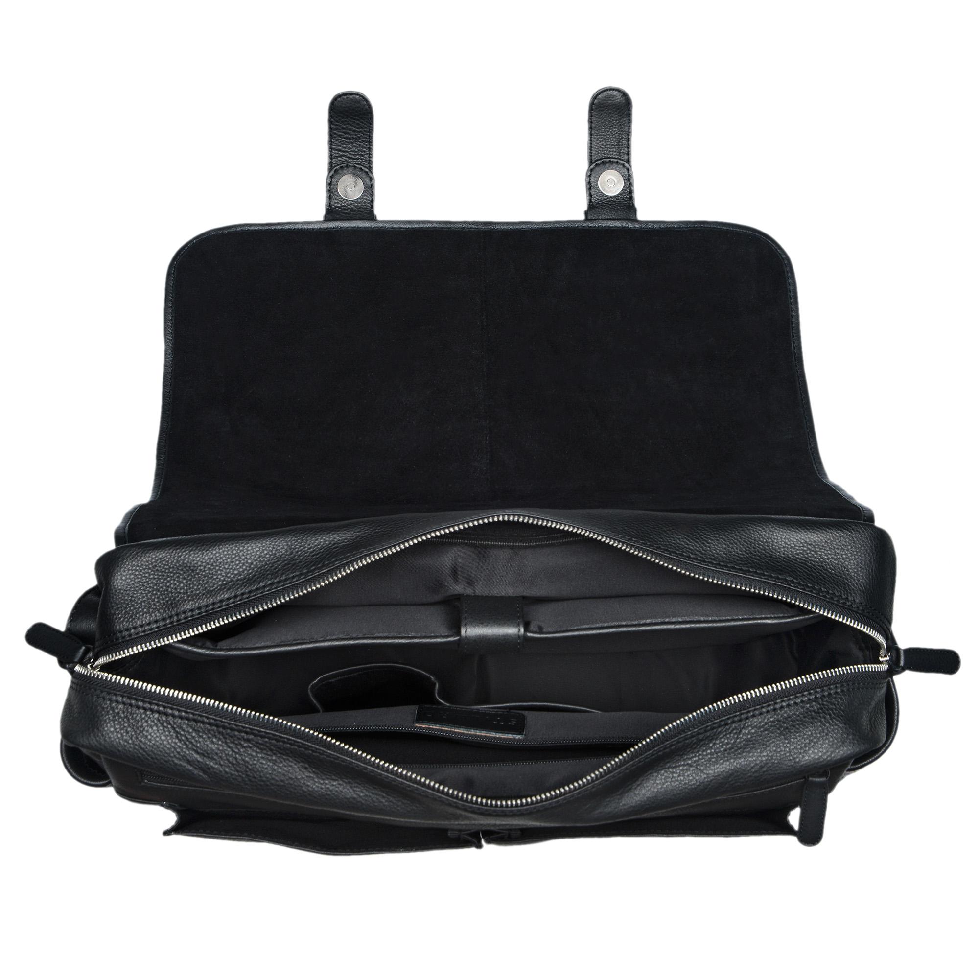 Leder Bürotasche schwarz