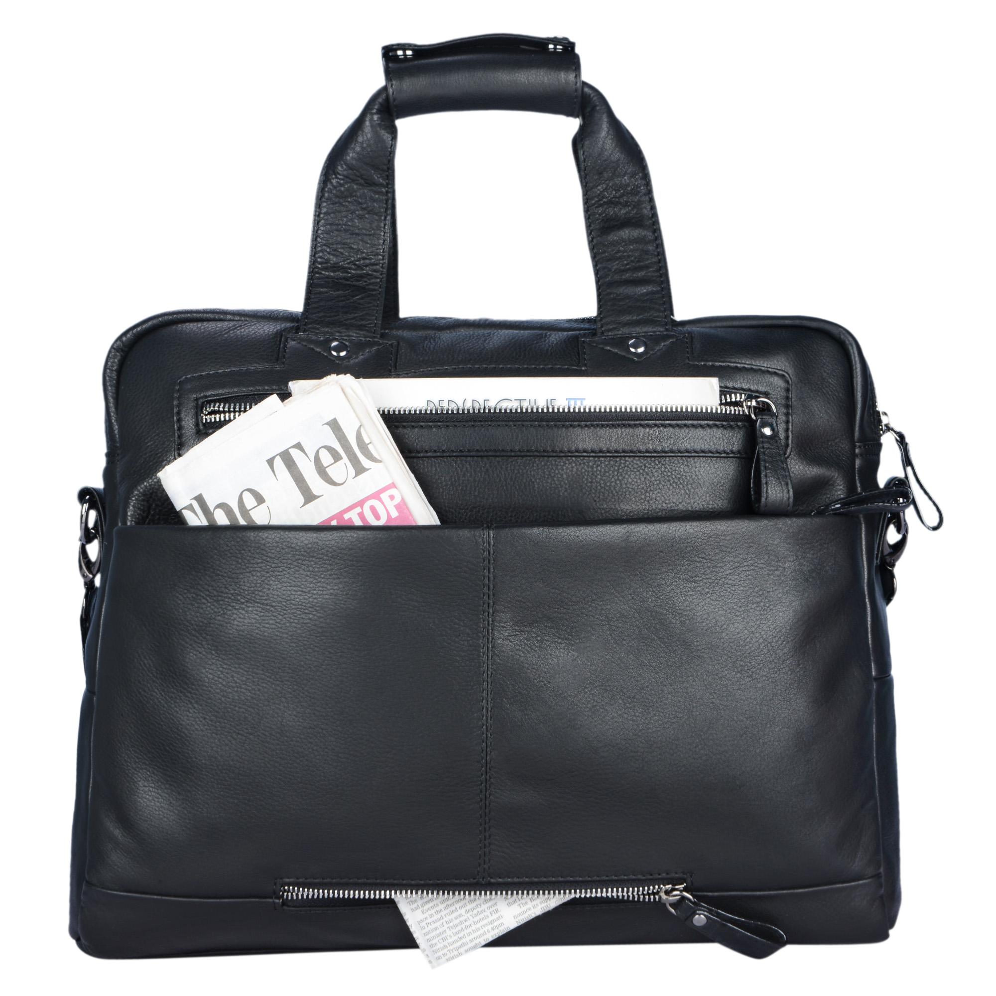 Handtasche 15.6 Zoll Laptopfach Leder