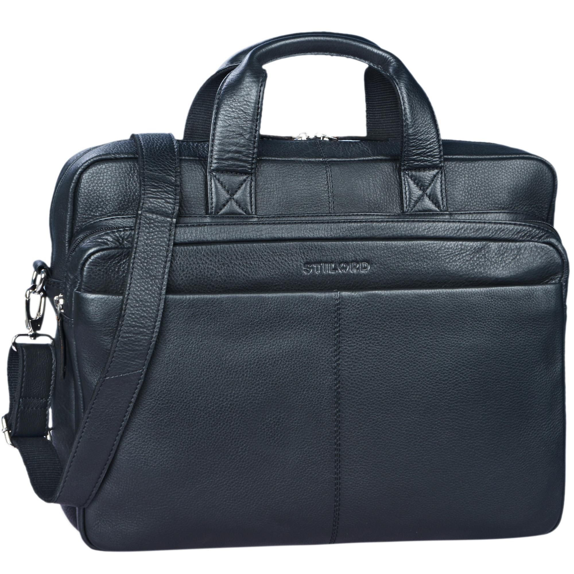"""STILORD """"Verus"""" Vintage Ledertasche groß Aktentasche Laptoptasche Umhängetasche mit Reißverschluss und abnehmbaren Schultergurt Lehrertasche Leder - Bild 9"""