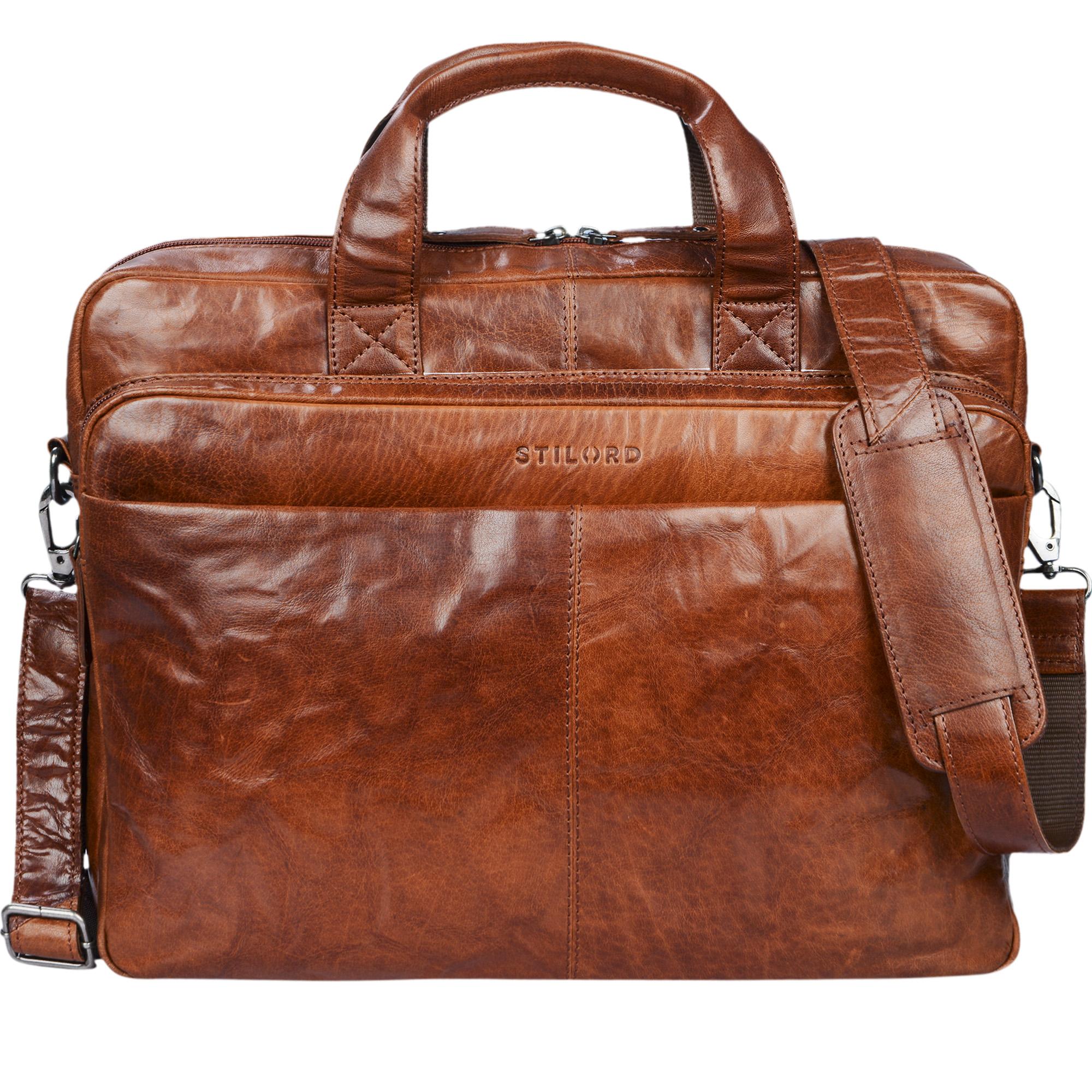 Vintage Businesstasche aus echtem Leder XL